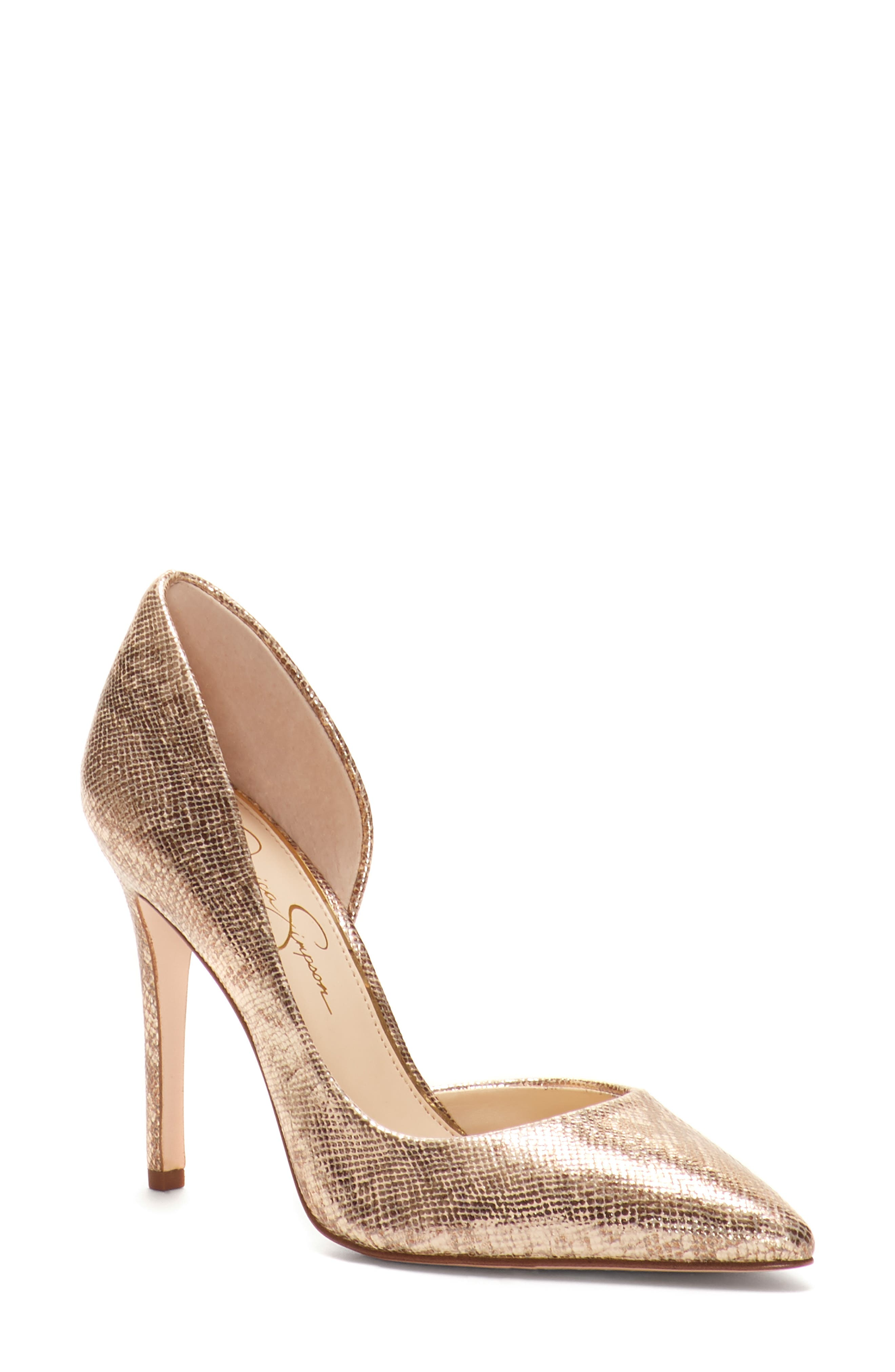 JESSICA SIMPSON,                             Pheona Pump,                             Main thumbnail 1, color,                             KARAT GOLD