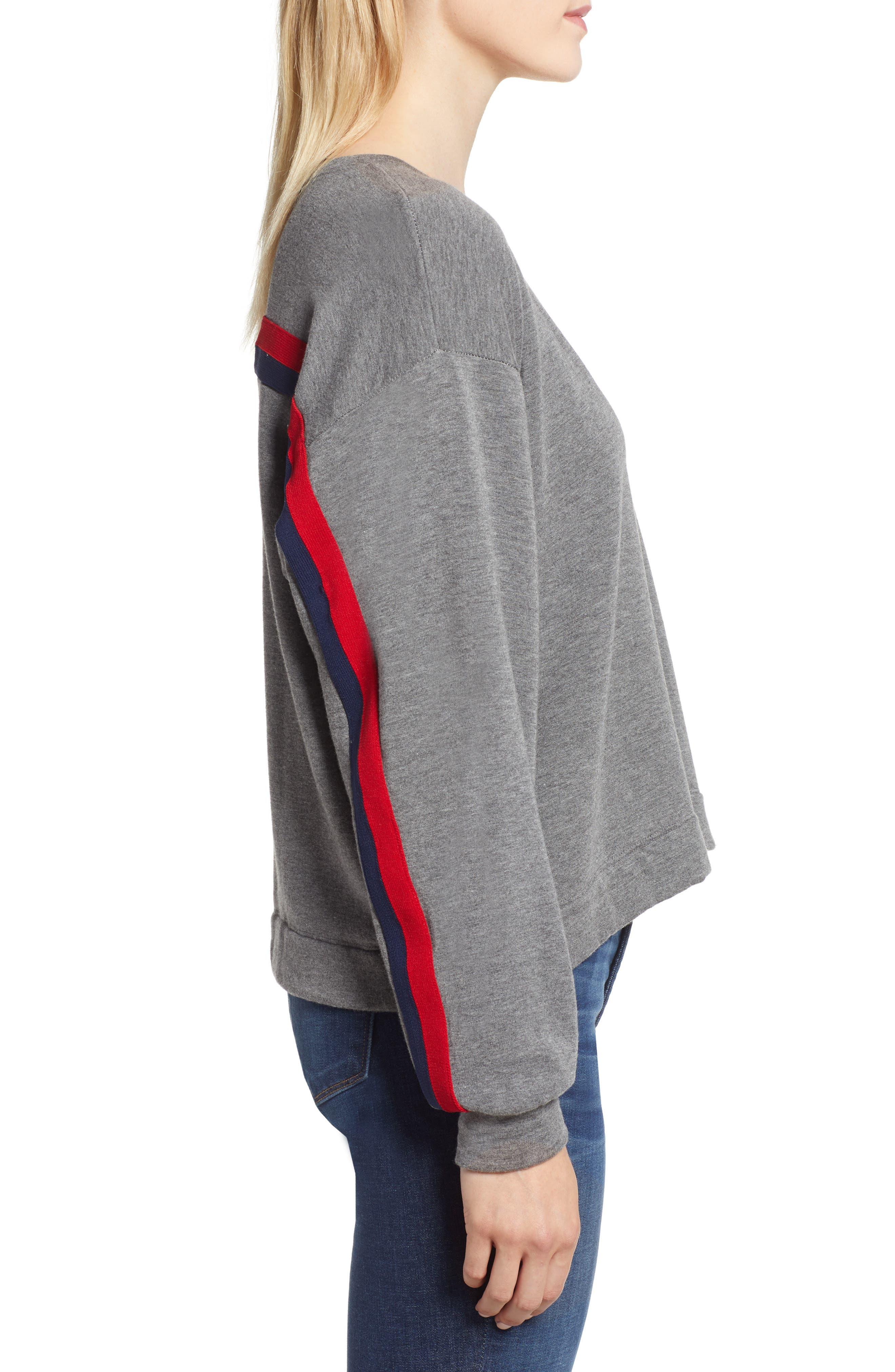 Athleisure Stripe Detail Sweatshirt,                             Alternate thumbnail 3, color,                             024