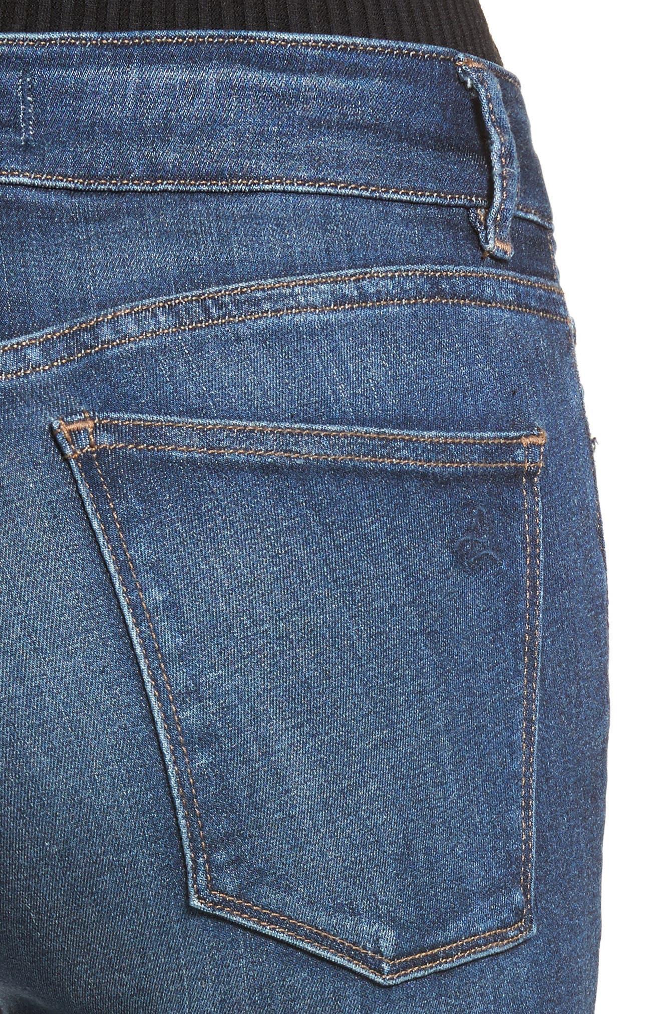 Florence Instasculpt Crop Skinny Jeans,                             Alternate thumbnail 4, color,                             405