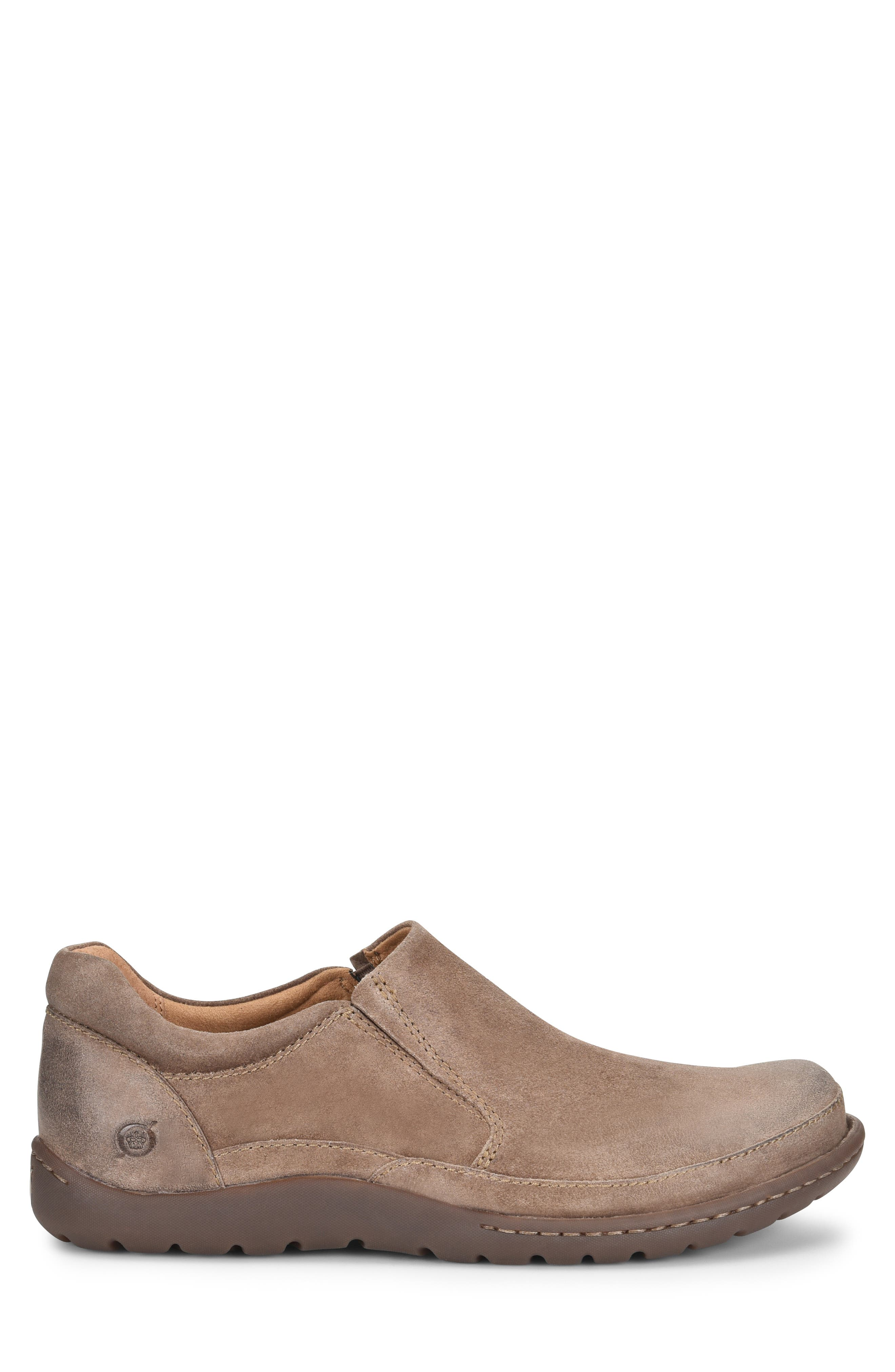 Nigel Slip-On,                             Alternate thumbnail 3, color,                             TAUPE LEATHER