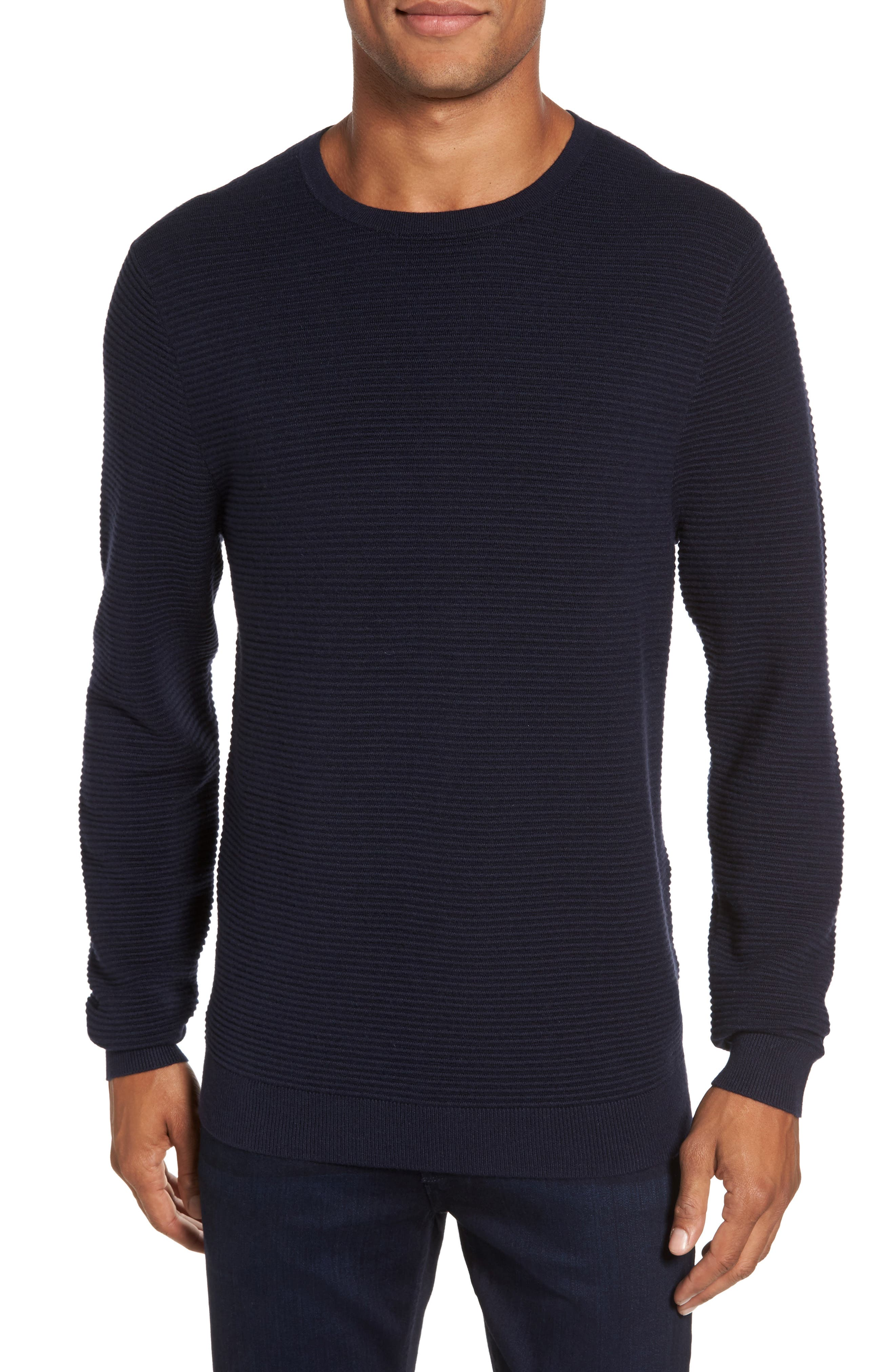 Ottoman Ribbed Crewneck Sweater,                             Main thumbnail 2, color,