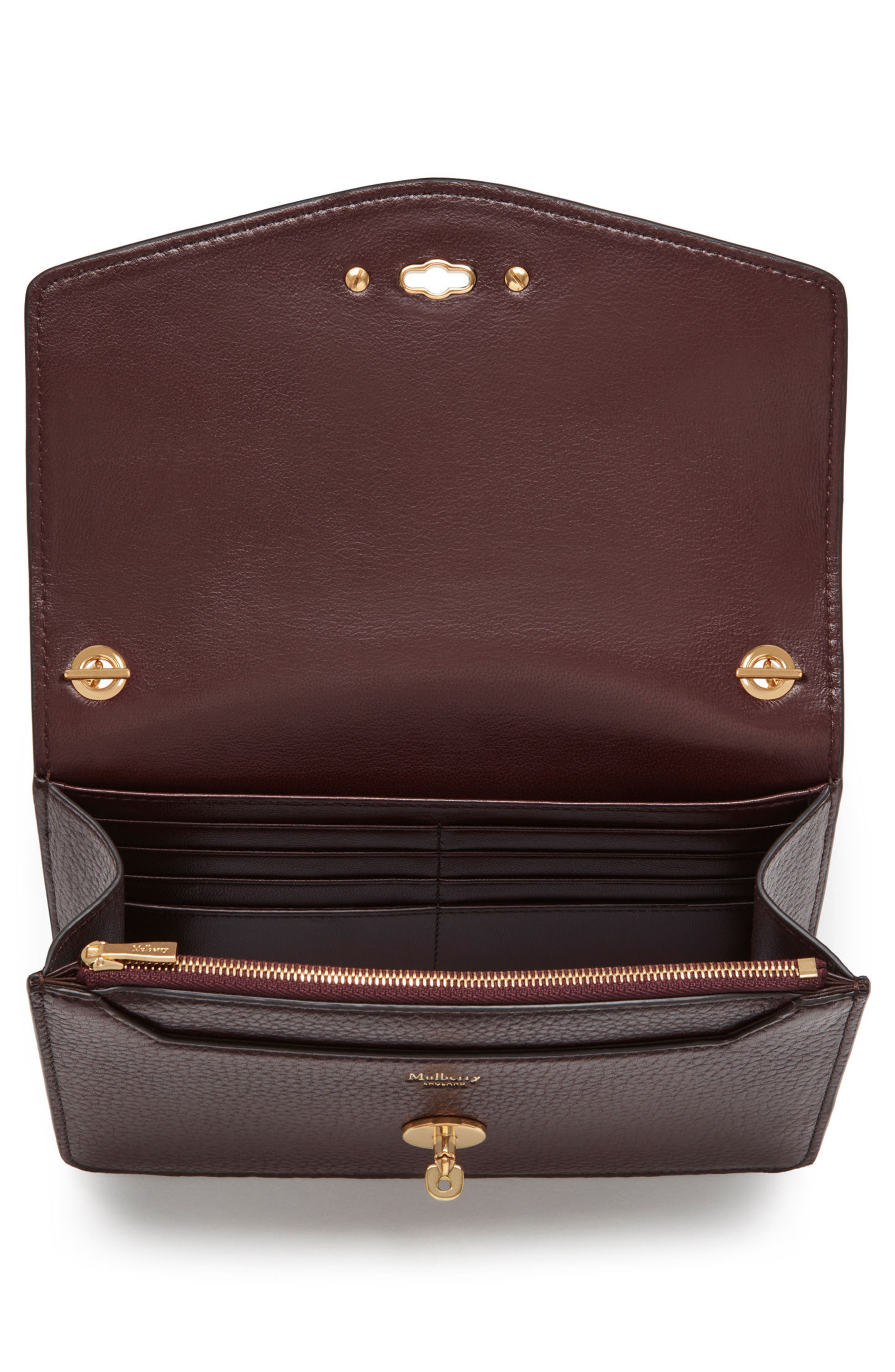 Small Darley Leather Clutch,                             Alternate thumbnail 3, color,