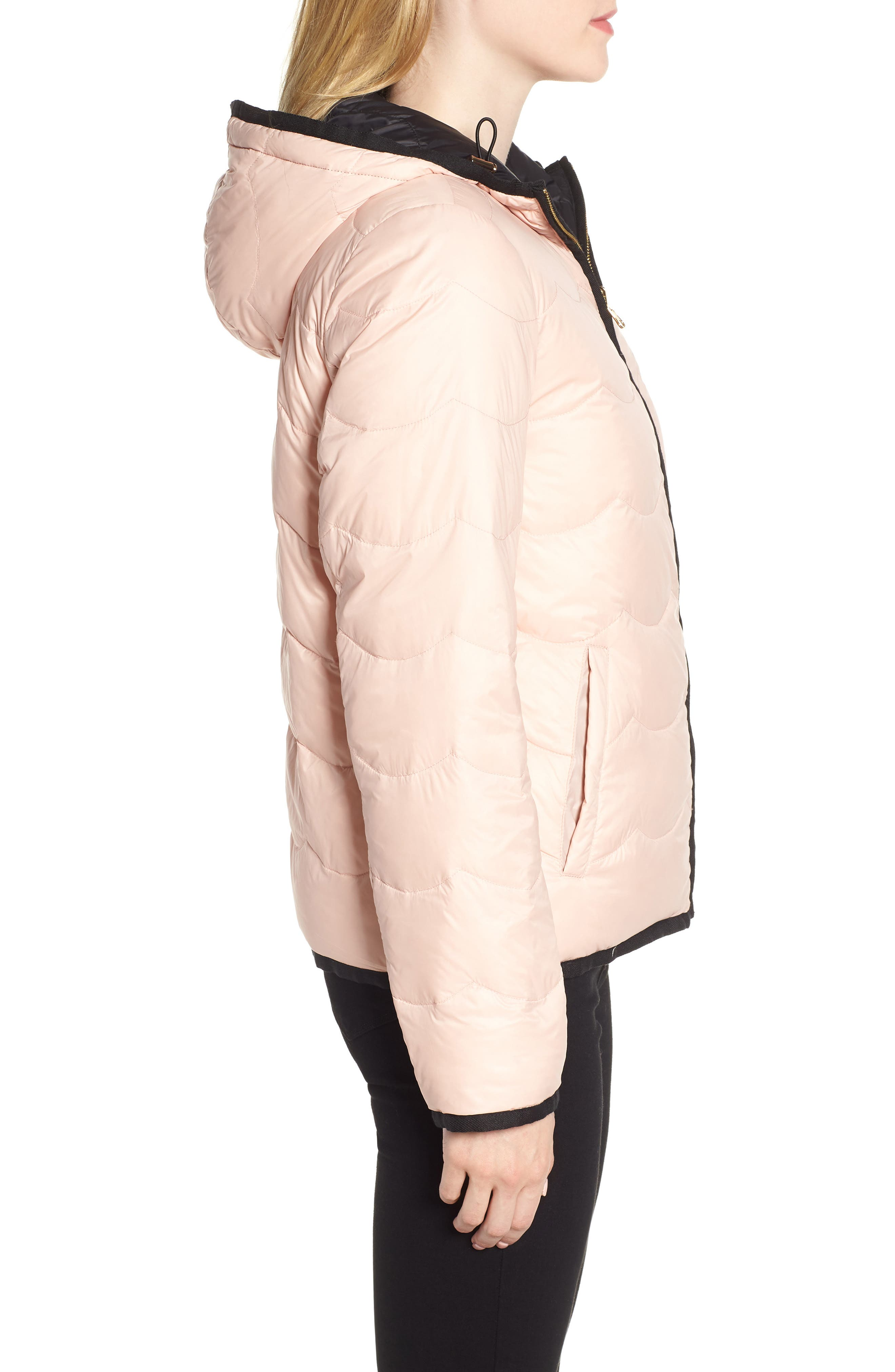 reversible quilted down jacket,                             Alternate thumbnail 4, color,                             001