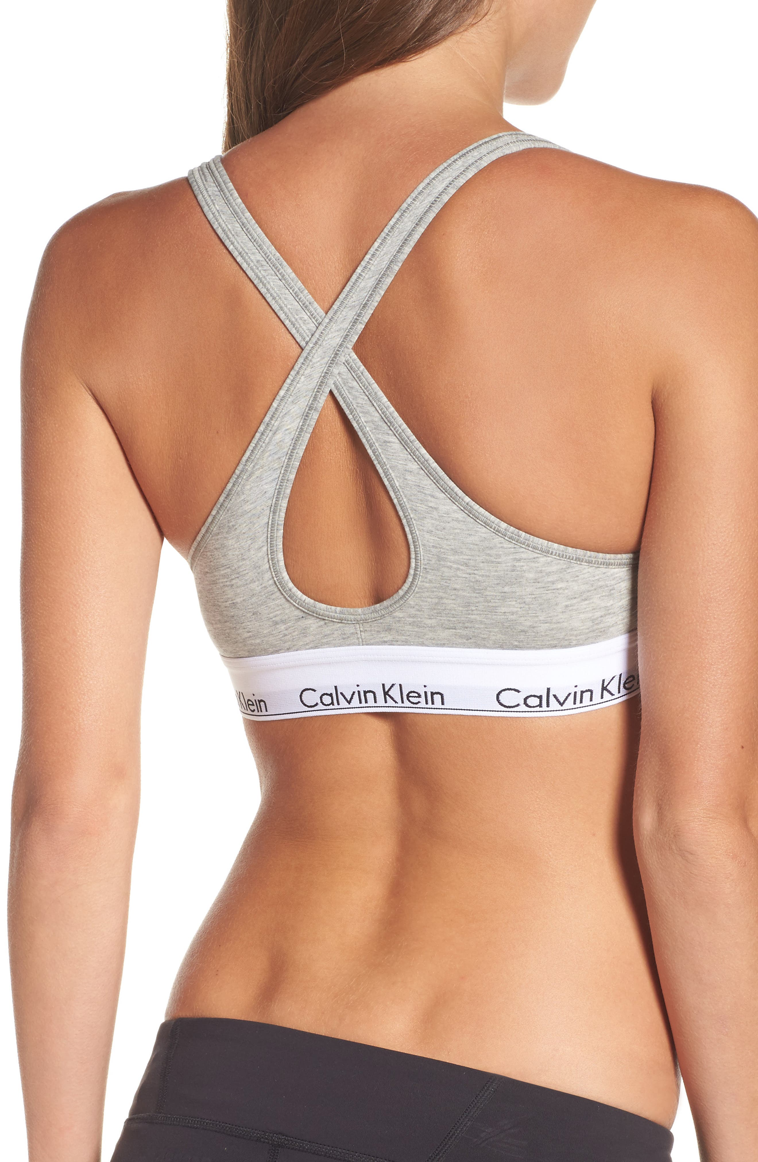 Modern Cotton Bra,                             Alternate thumbnail 6, color,