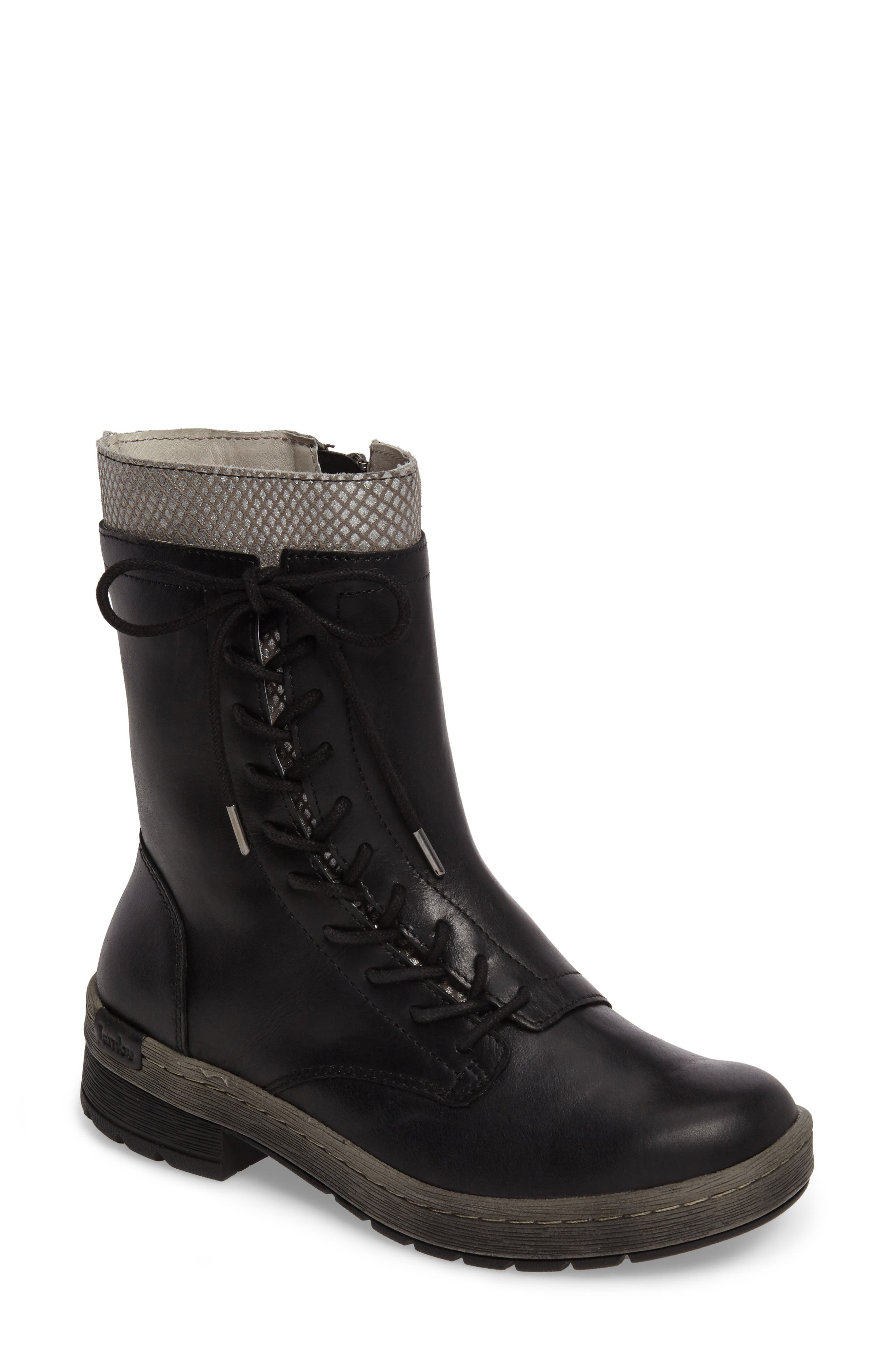 Chestnut Lace-Up Water Resistant Boot,                             Main thumbnail 1, color,                             001