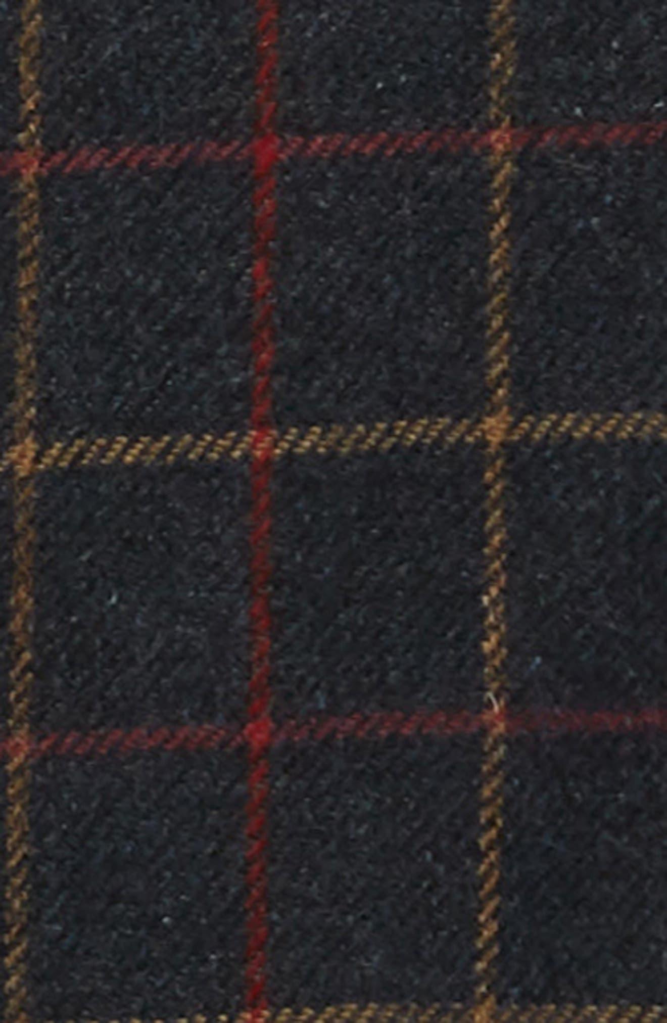 Whiting Tattersall Wool Shirt Jacket,                             Alternate thumbnail 7, color,                             BLACK WOOL CHECK
