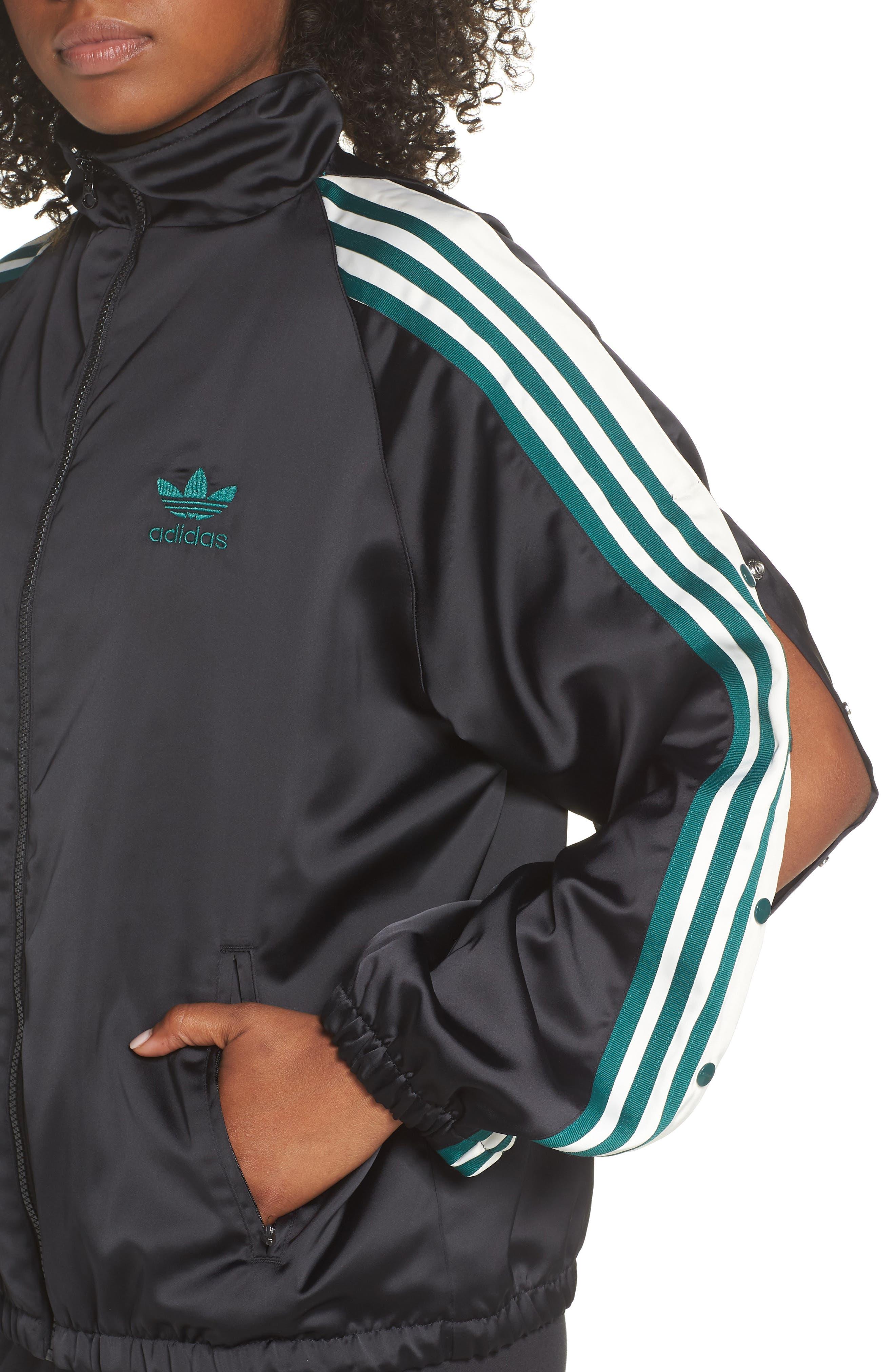 Adibreak Track Jacket,                             Alternate thumbnail 4, color,                             BLACK