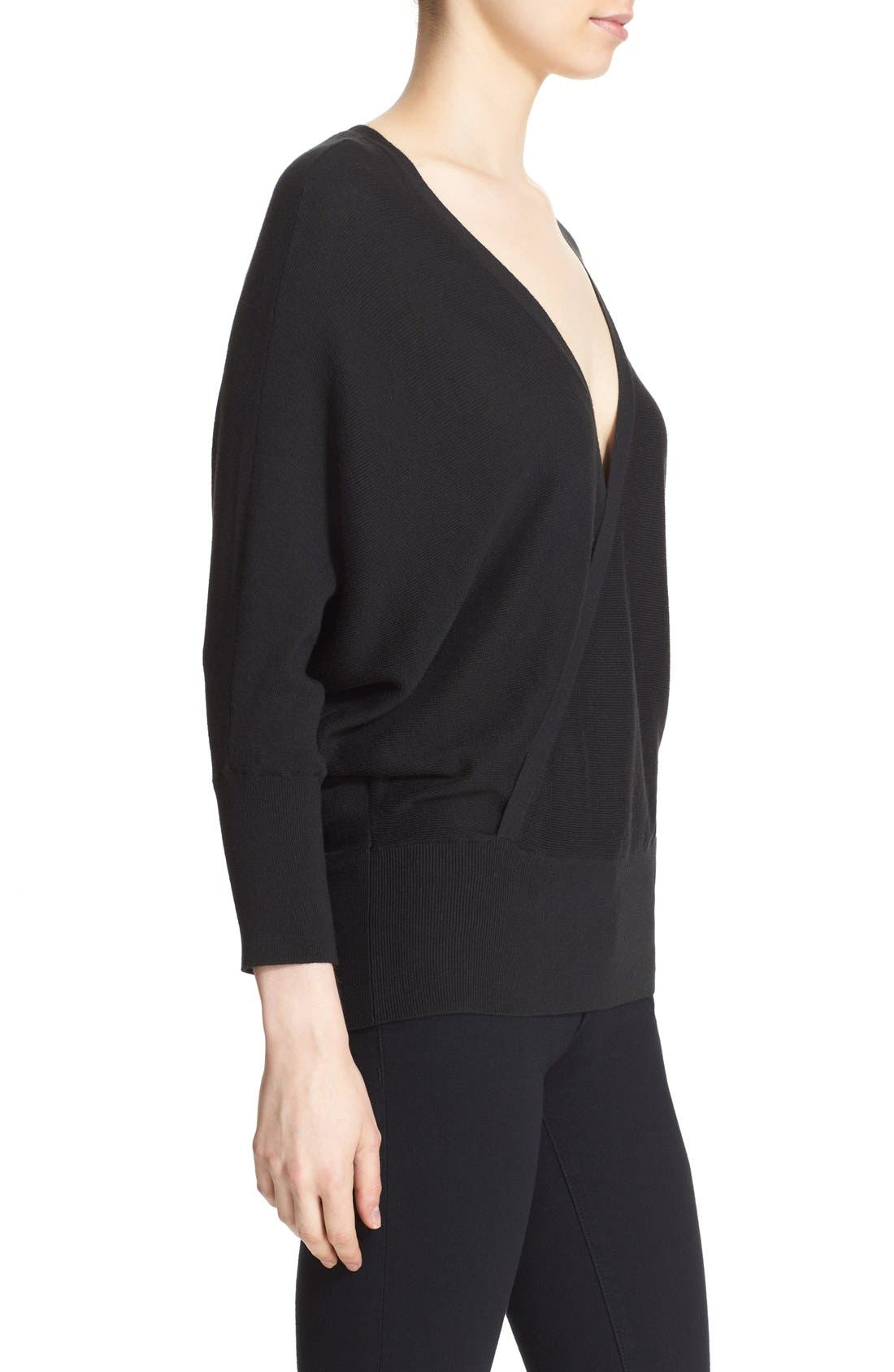 MILLY,                             Convertible Wrap Sweater,                             Alternate thumbnail 2, color,                             001
