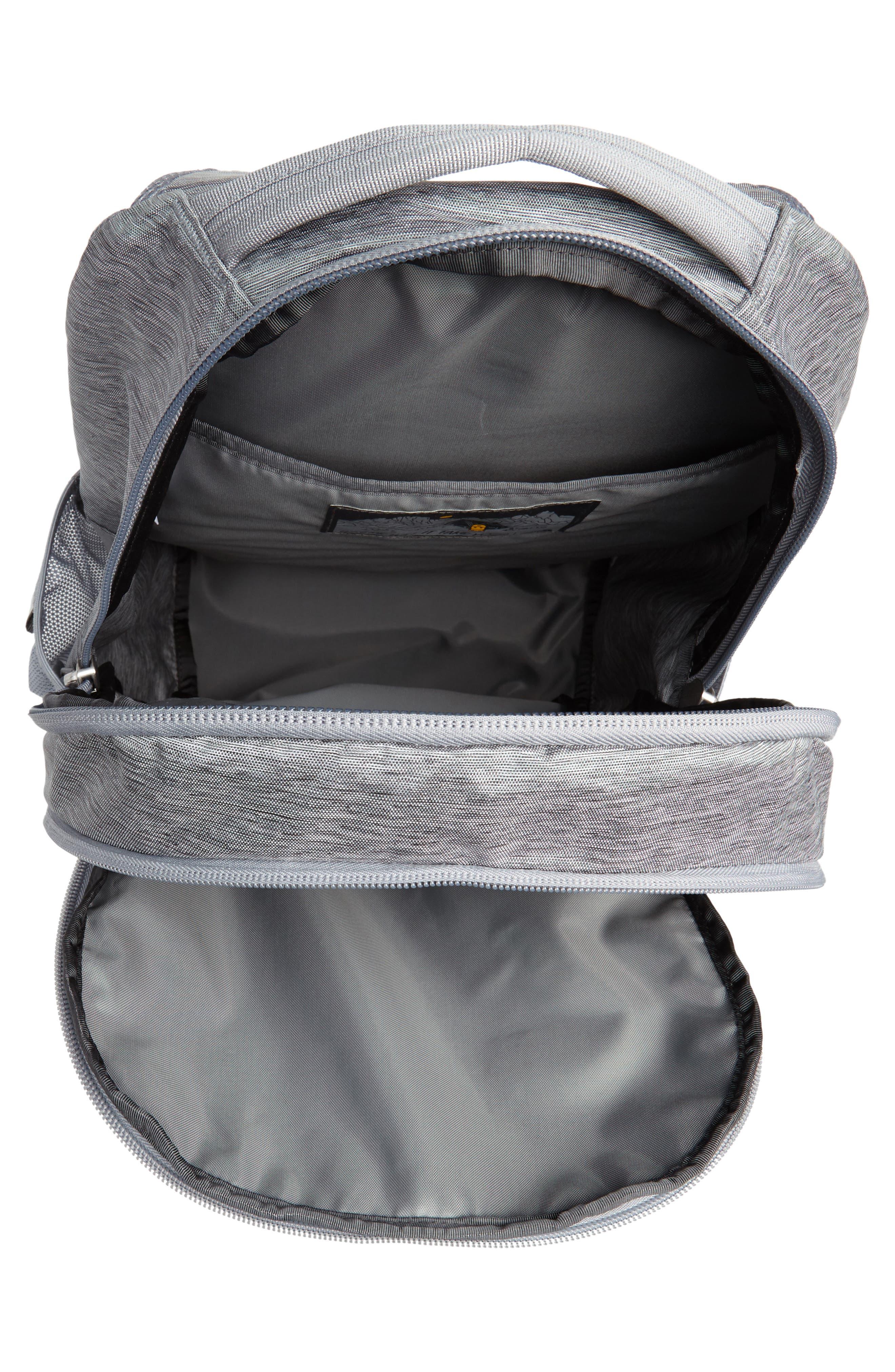 Jester Backpack,                             Alternate thumbnail 4, color,                             GREY DARK HEATHER/ TNF BLACK