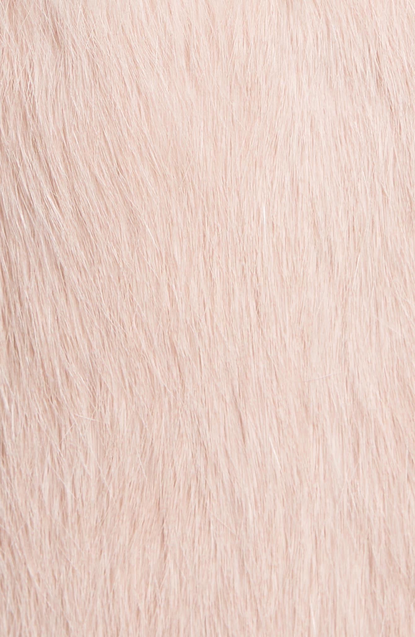 Collarless Genuine Rabbit Fur Vest,                             Alternate thumbnail 7, color,                             695