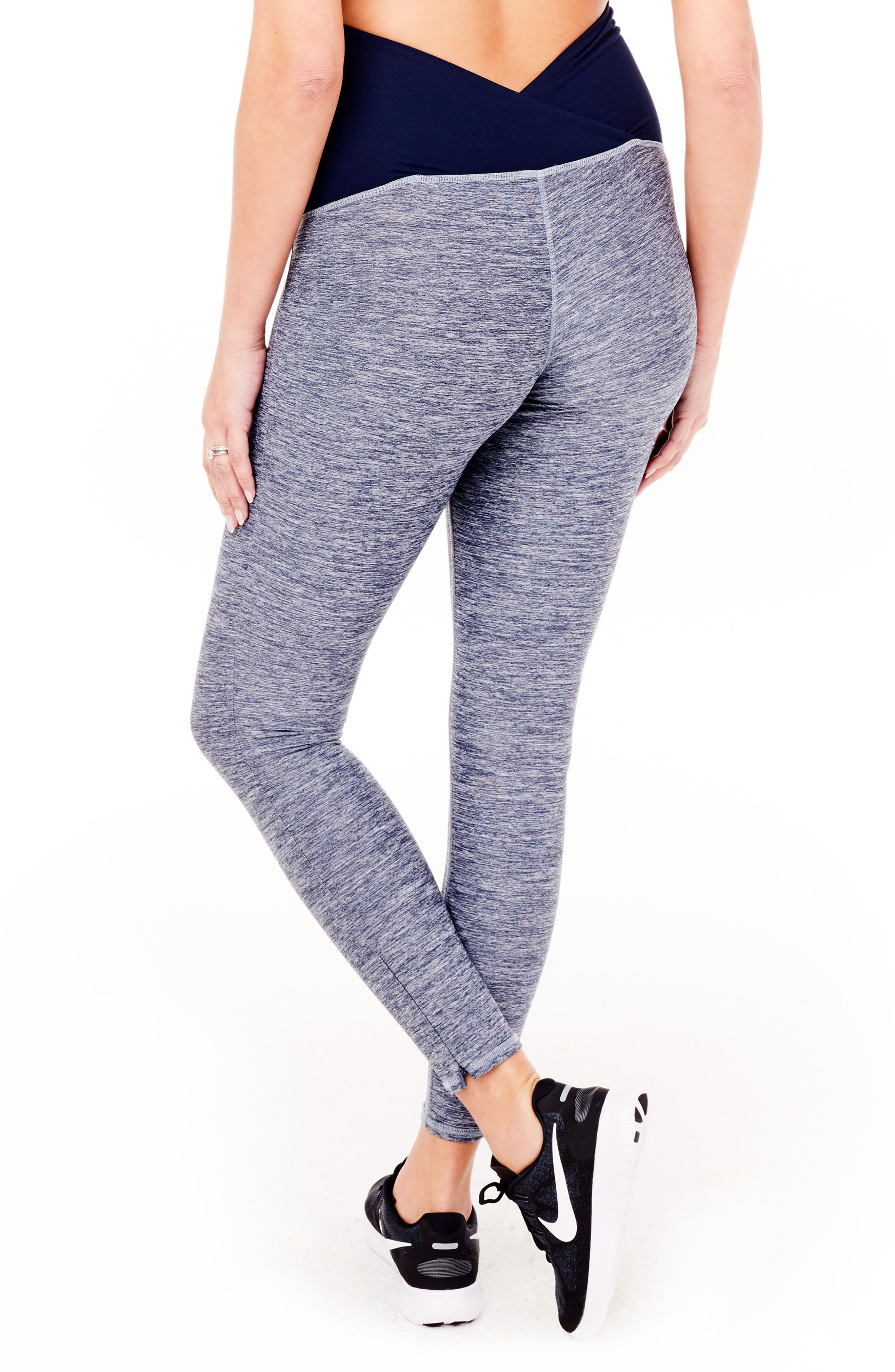 'Active' Maternity Leggings with Crossover Panel,                             Alternate thumbnail 2, color,                             417