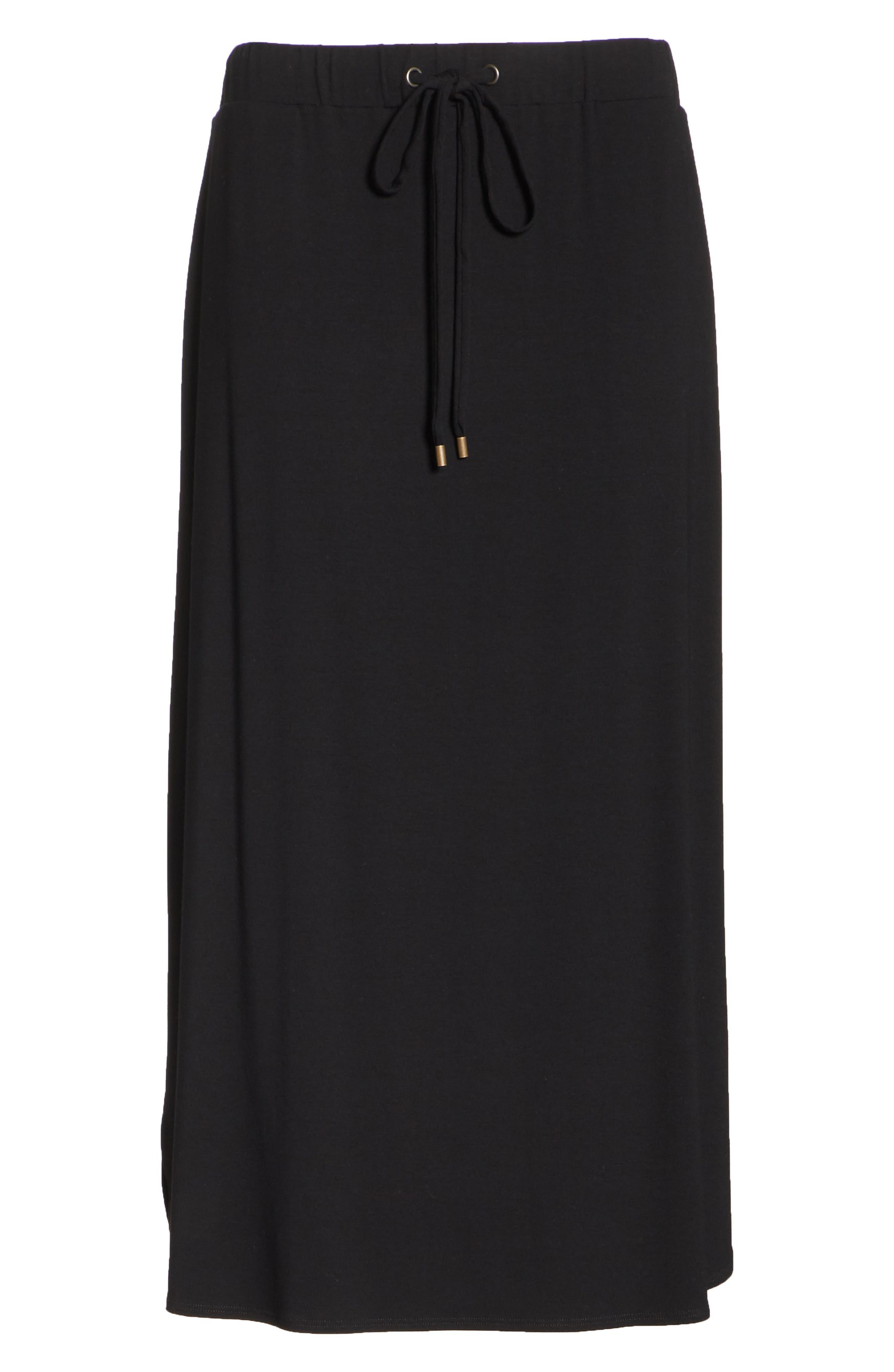 Drawstring Skirt,                             Alternate thumbnail 6, color,                             001