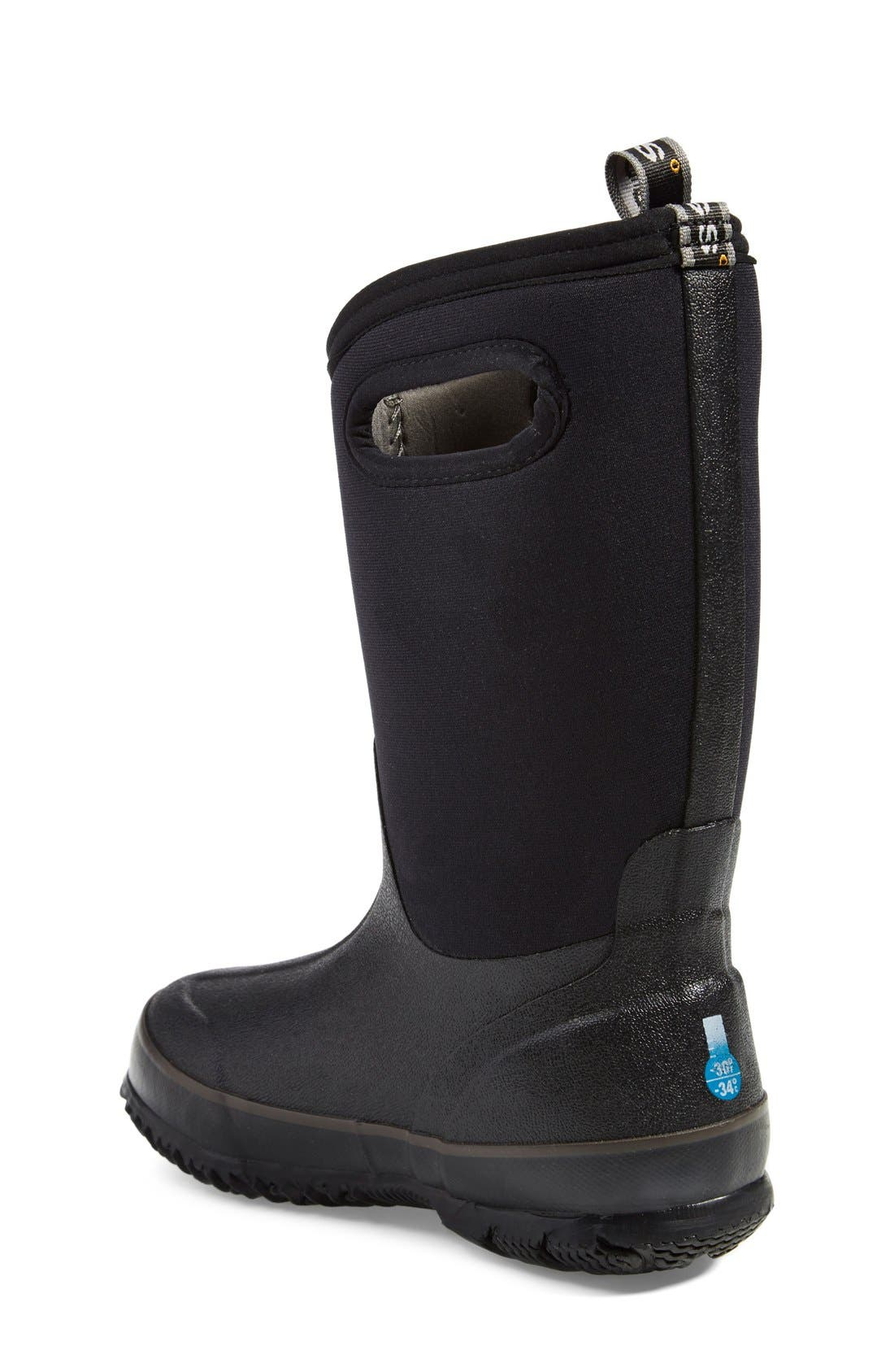 Classic High Waterproof Boot,                             Alternate thumbnail 4, color,                             BLACK