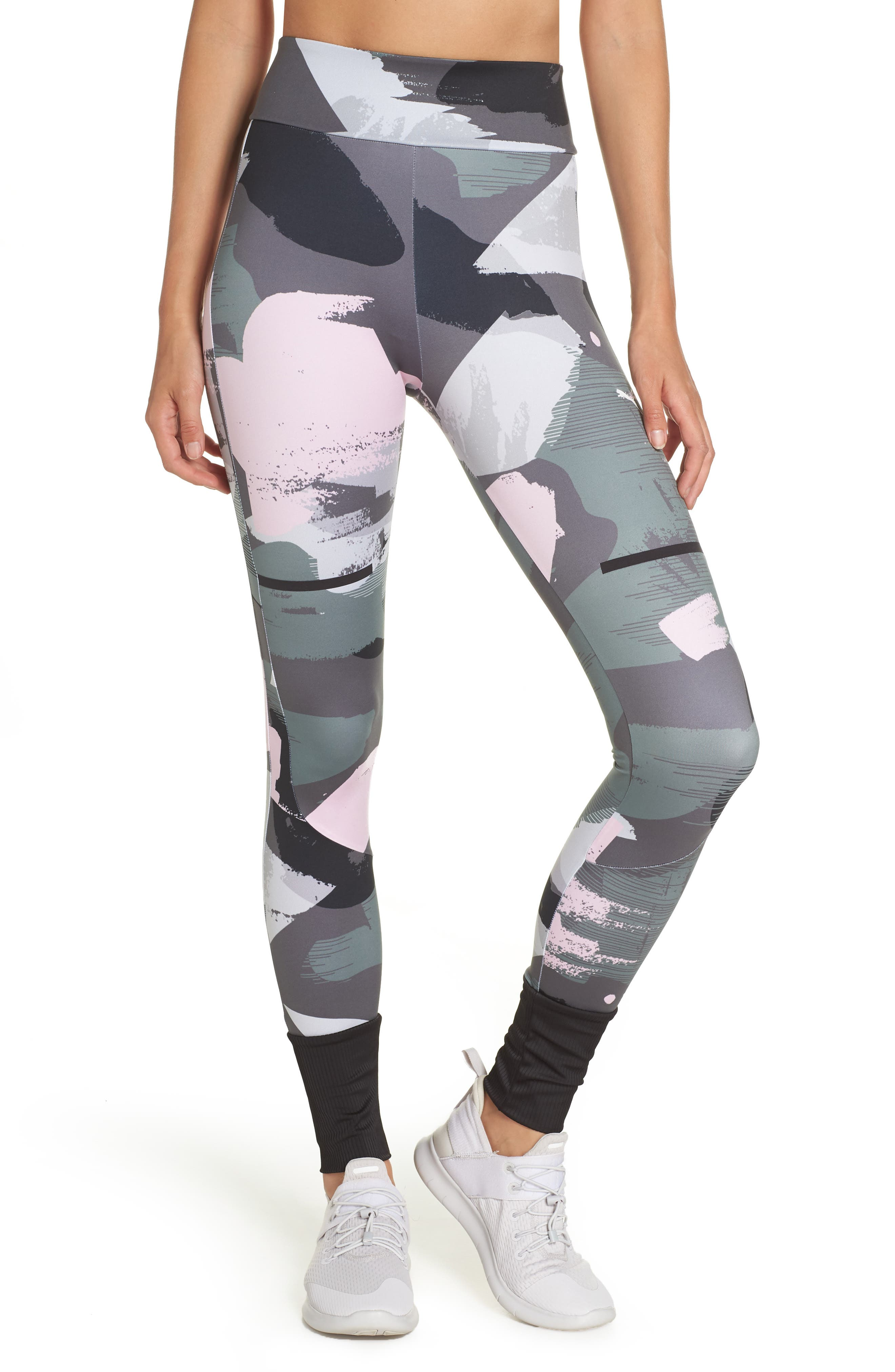 Chase Print Leggings,                         Main,                         color, IRON GATE