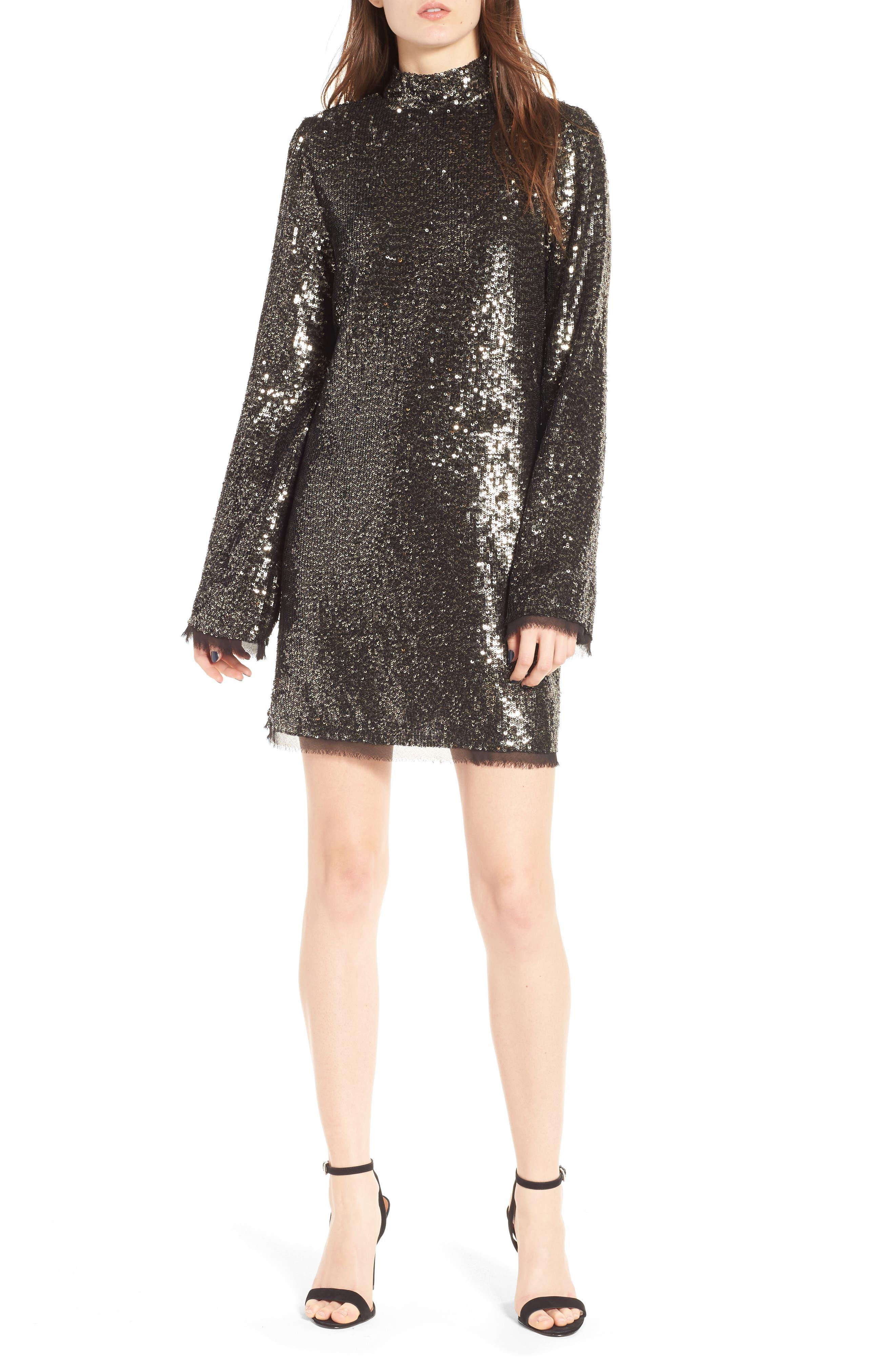 Sequin Shift Dress,                             Main thumbnail 1, color,                             042