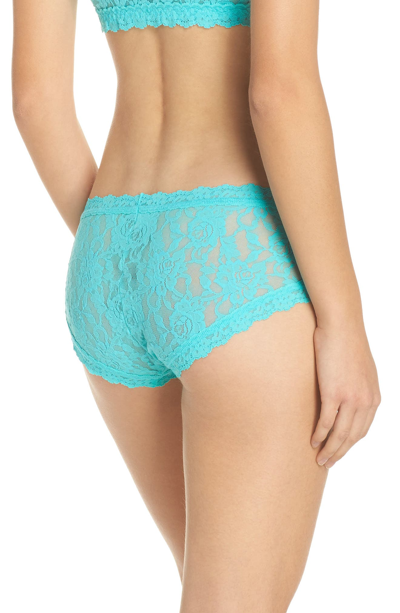 Floral Stretch Lace Girlkini,                             Alternate thumbnail 6, color,