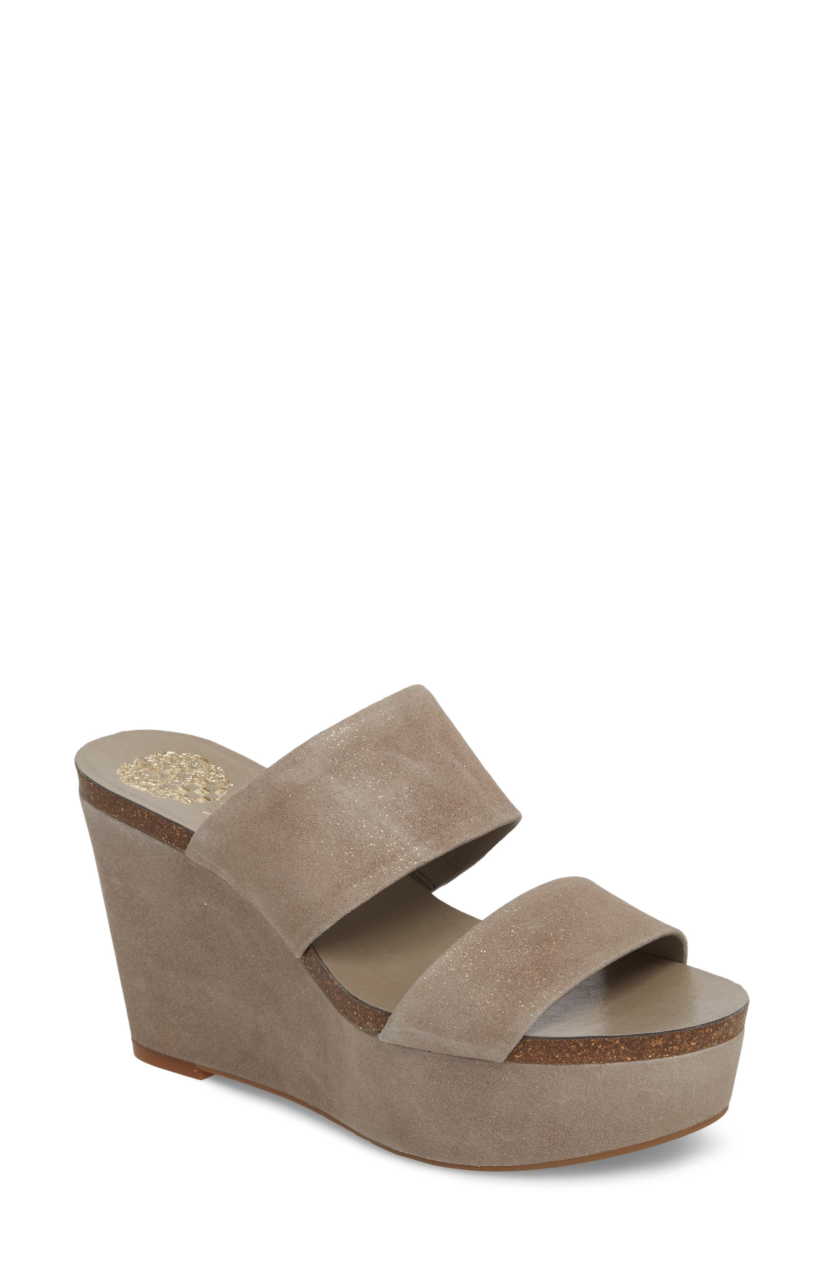 Varenia Platform Wedge Sandal,                             Main thumbnail 1, color,                             SILVER GREY FABRIC