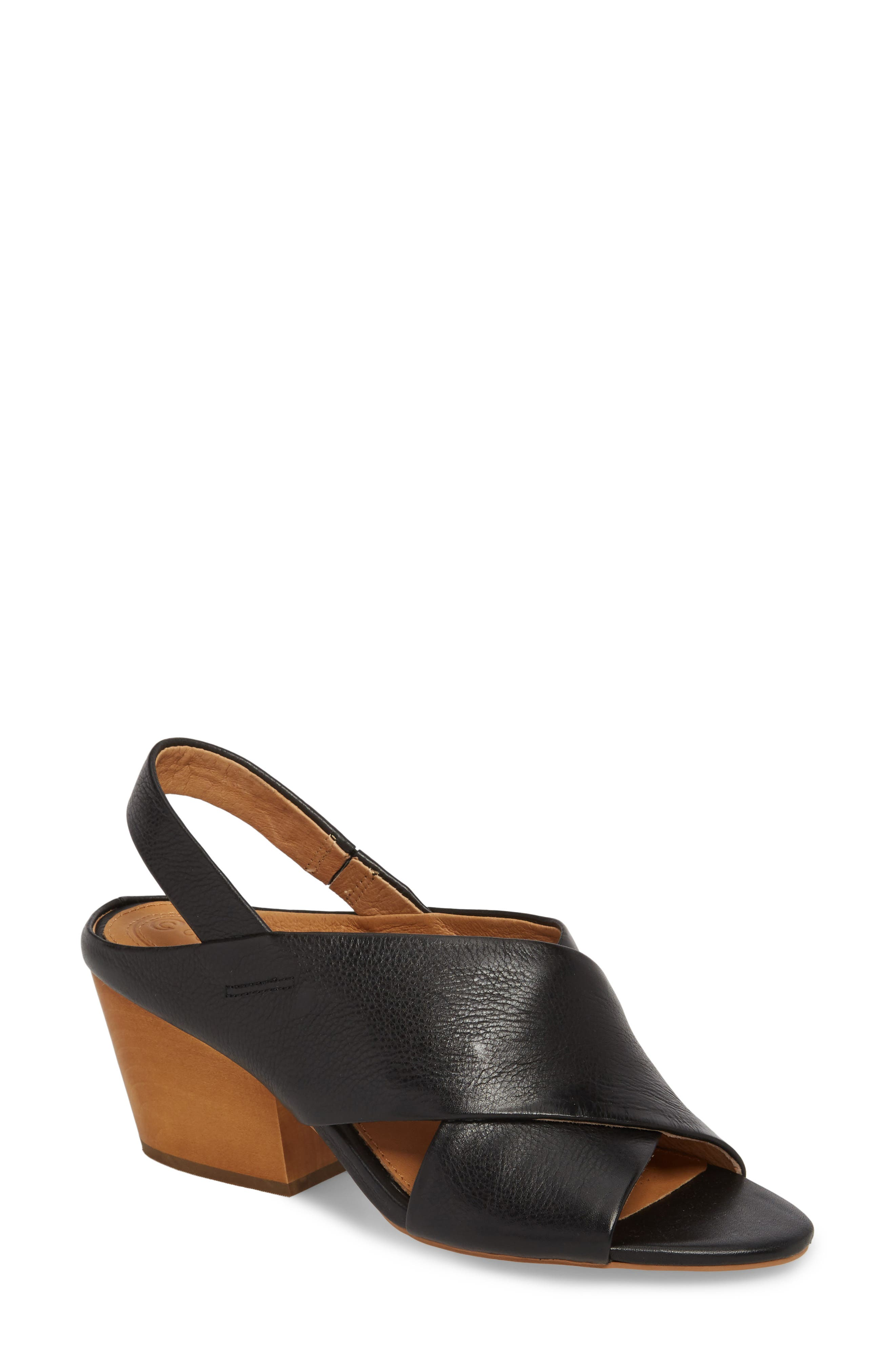 Irit Sandal,                         Main,                         color, BLACK LEATHER