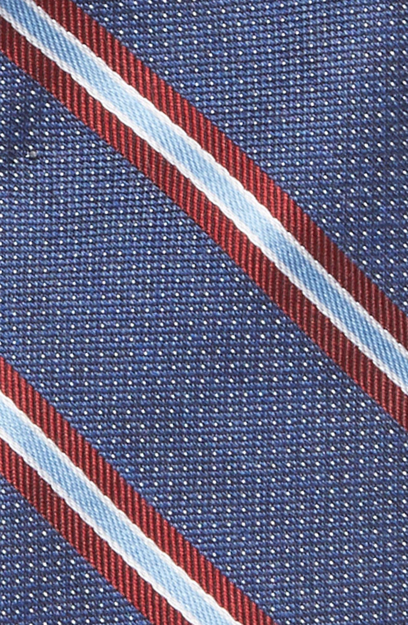 Stripe Silk Tie,                             Alternate thumbnail 2, color,                             BLUE