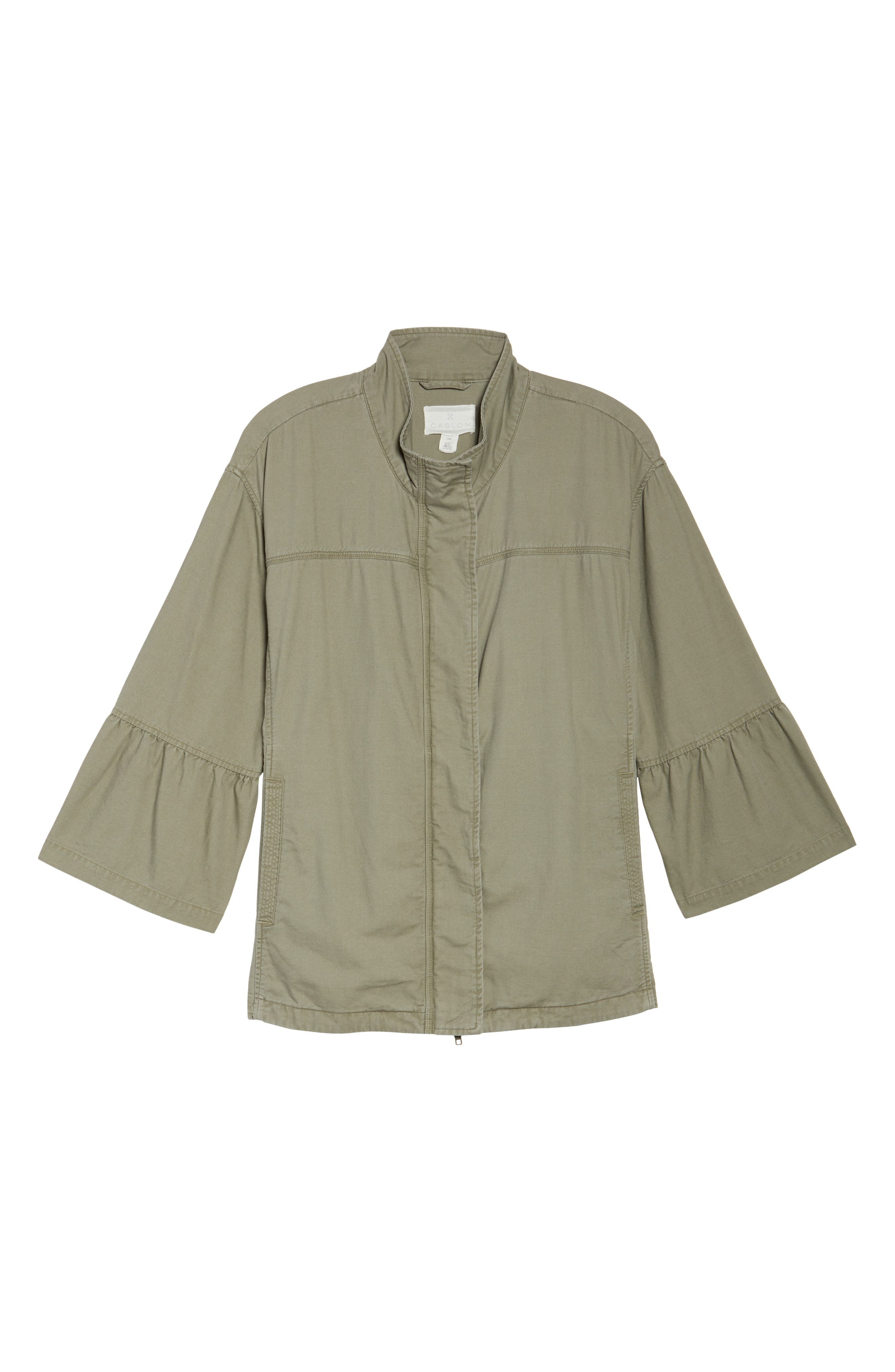 Bell Sleeve Utility Jacket,                             Alternate thumbnail 5, color,                             315