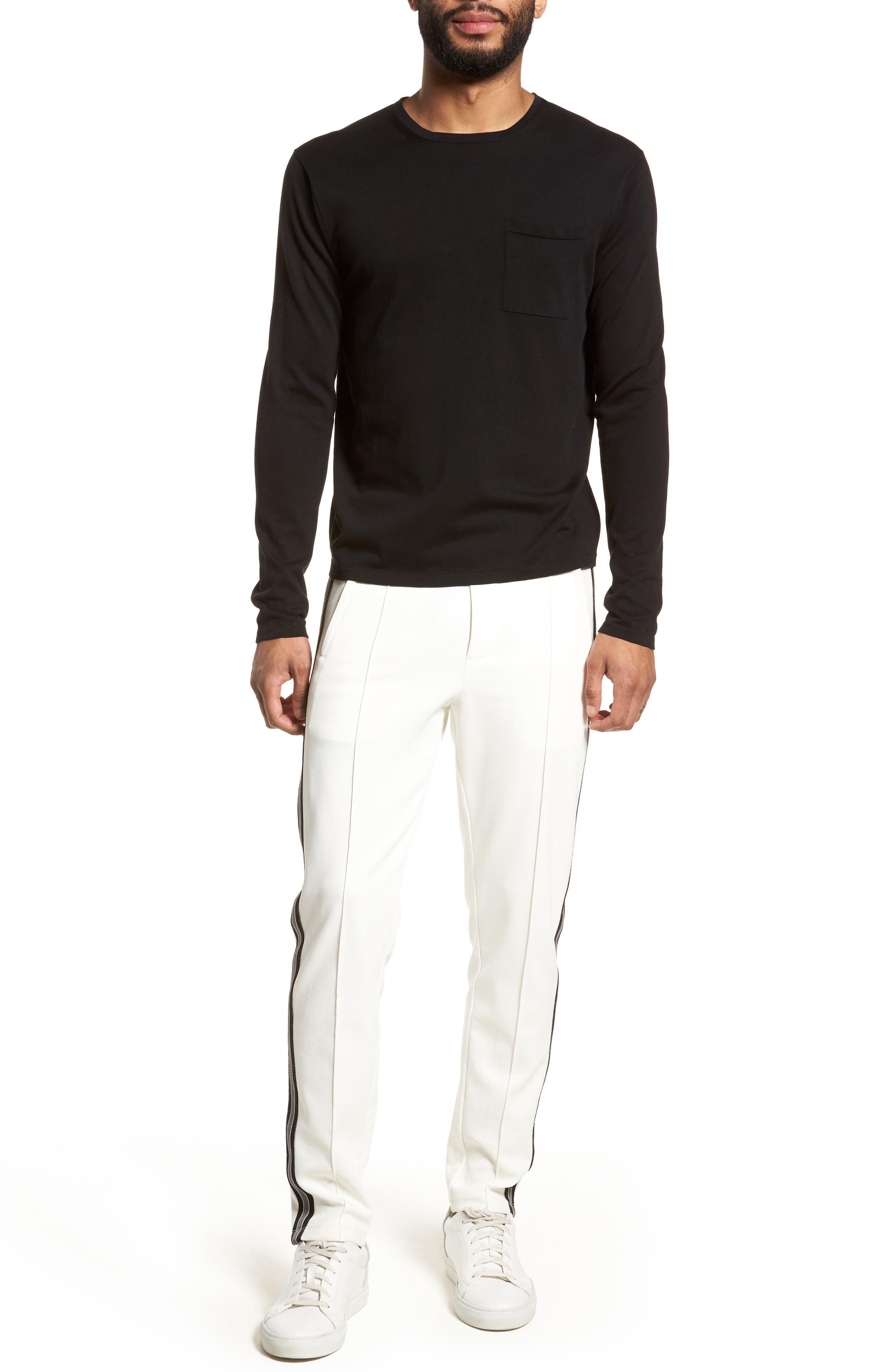 Long Sleeve Pocket T-Shirt,                             Alternate thumbnail 7, color,                             001