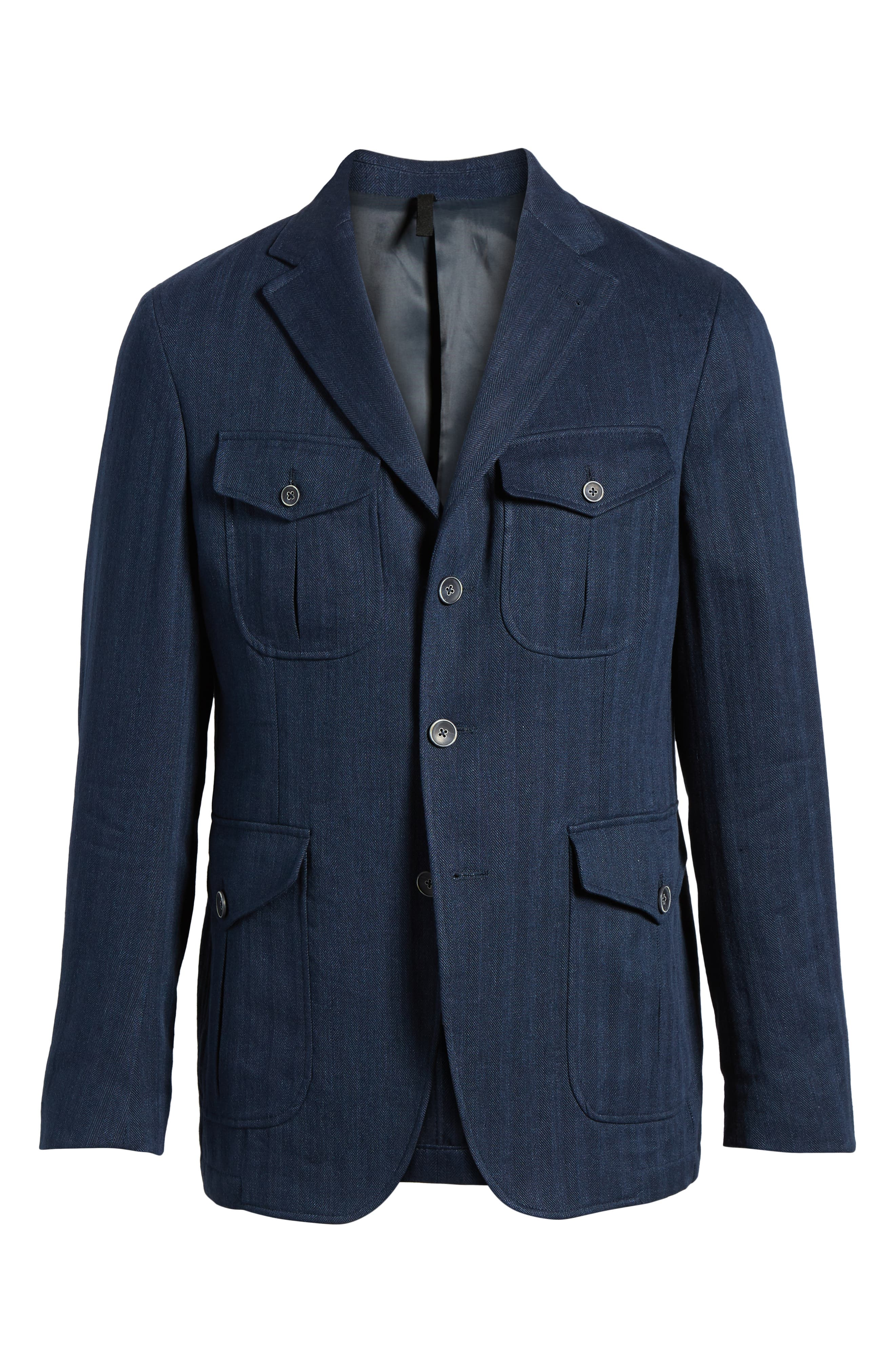 Herringbone Safari Blazer,                             Alternate thumbnail 5, color,                             411