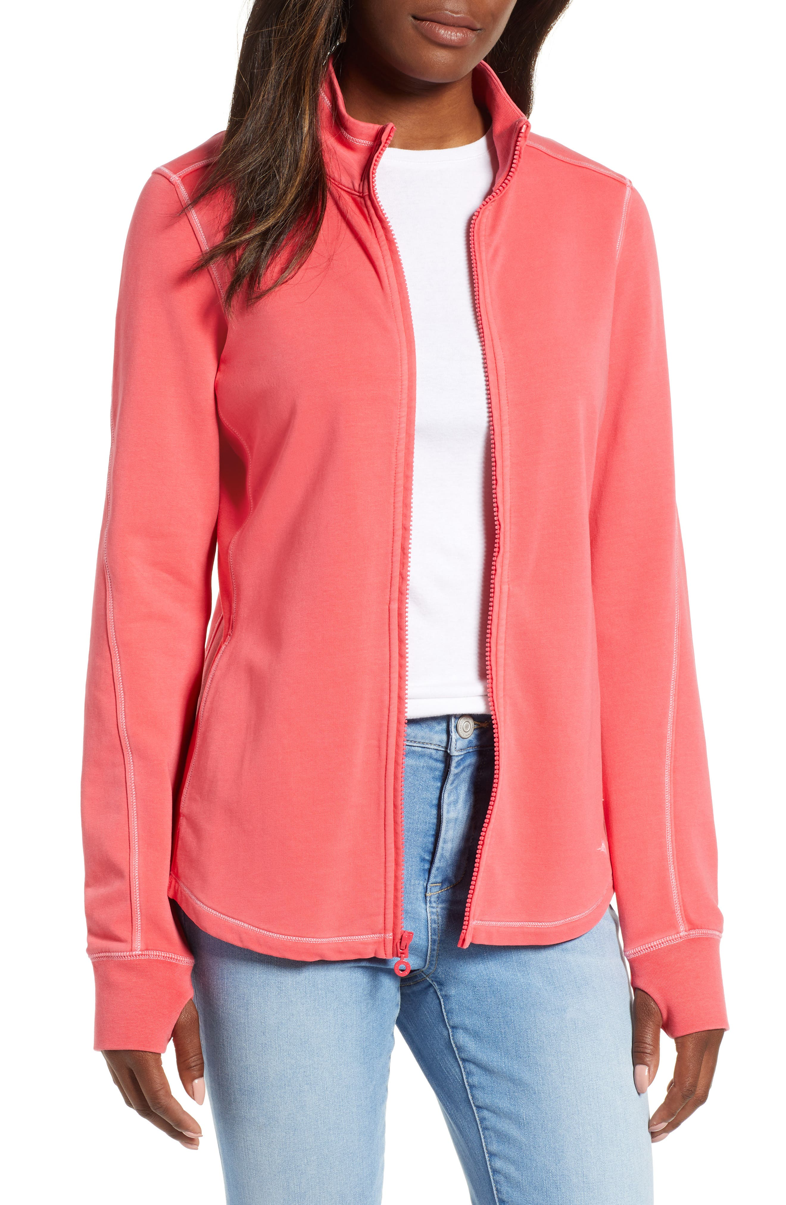 Tommy Bahama Jen And Terry Full Zip Top, Pink