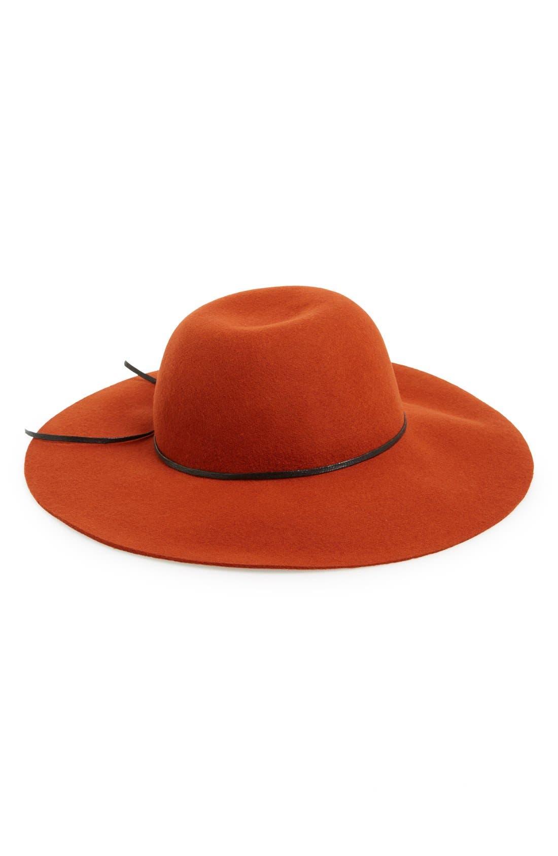 Rope Trim Floppy Felt Hat,                             Alternate thumbnail 10, color,