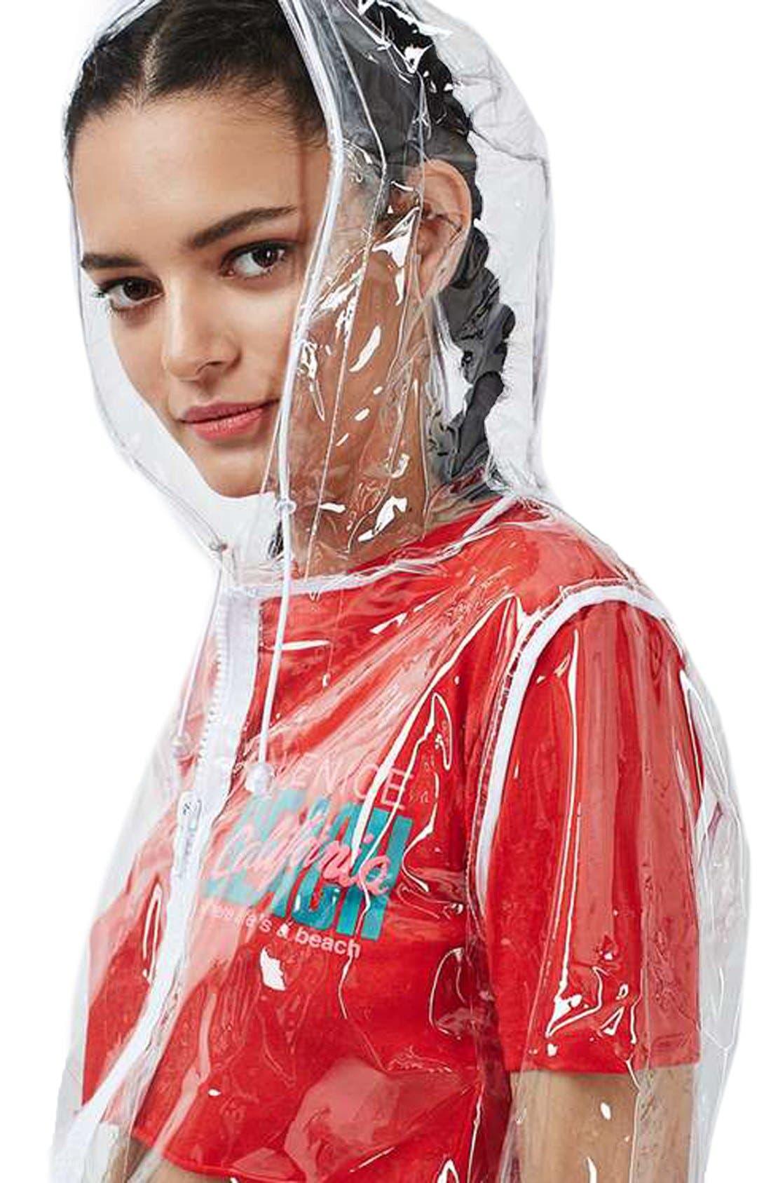 Clear Plastic Rain Jacket,                             Alternate thumbnail 3, color,                             000