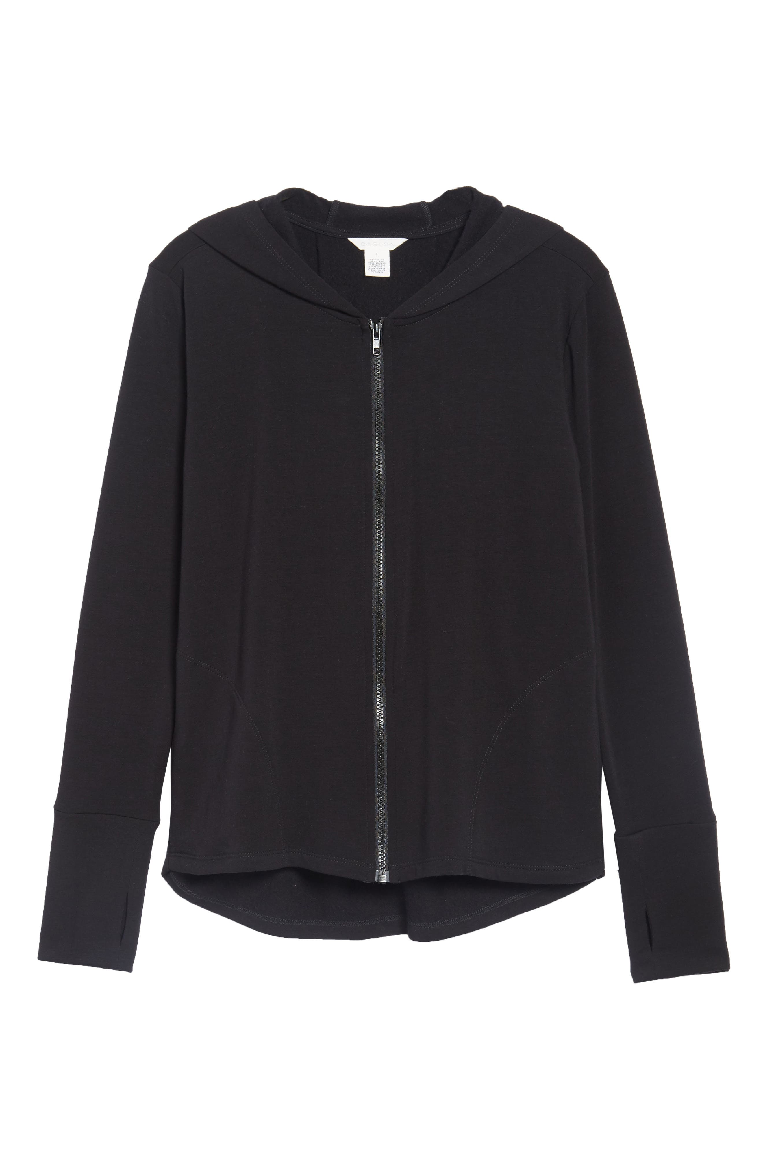 Off-Duty Zip Front Hooded Jacket,                             Alternate thumbnail 5, color,                             001