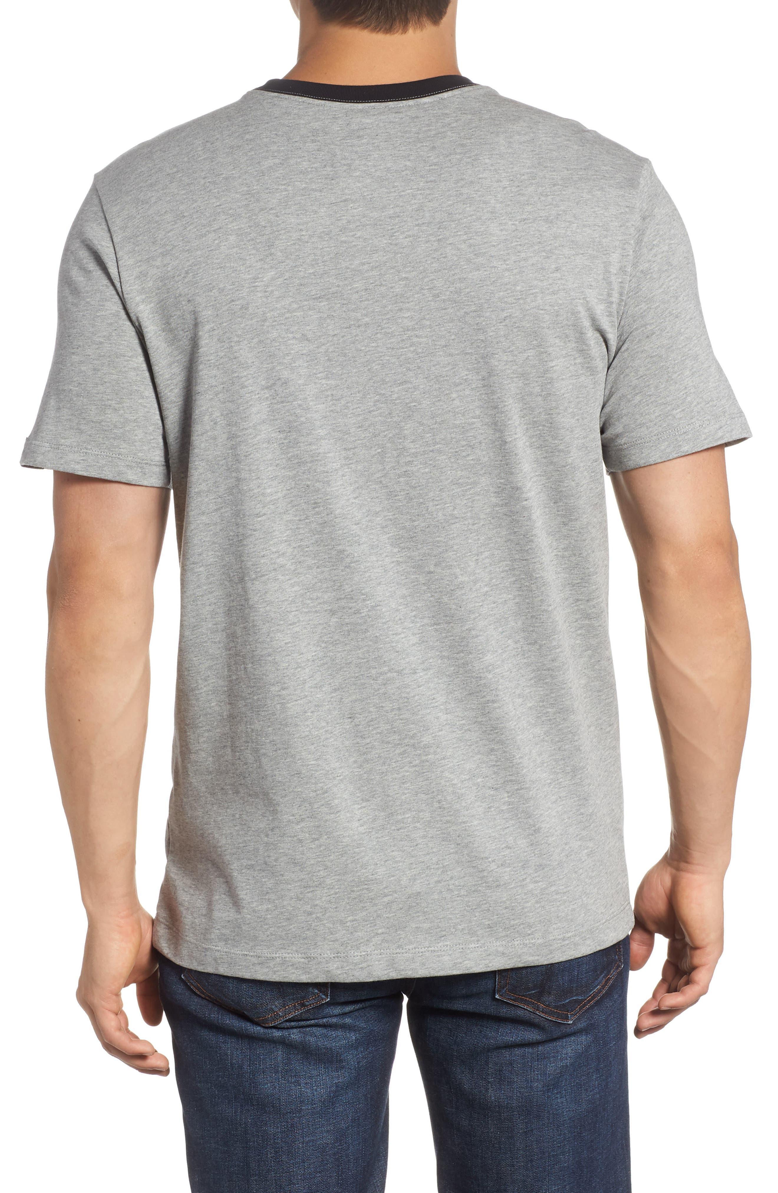 Windrunner Colorblocked T-Shirt,                             Alternate thumbnail 2, color,                             BLACK/ DK GREY HEATHER/ WHITE