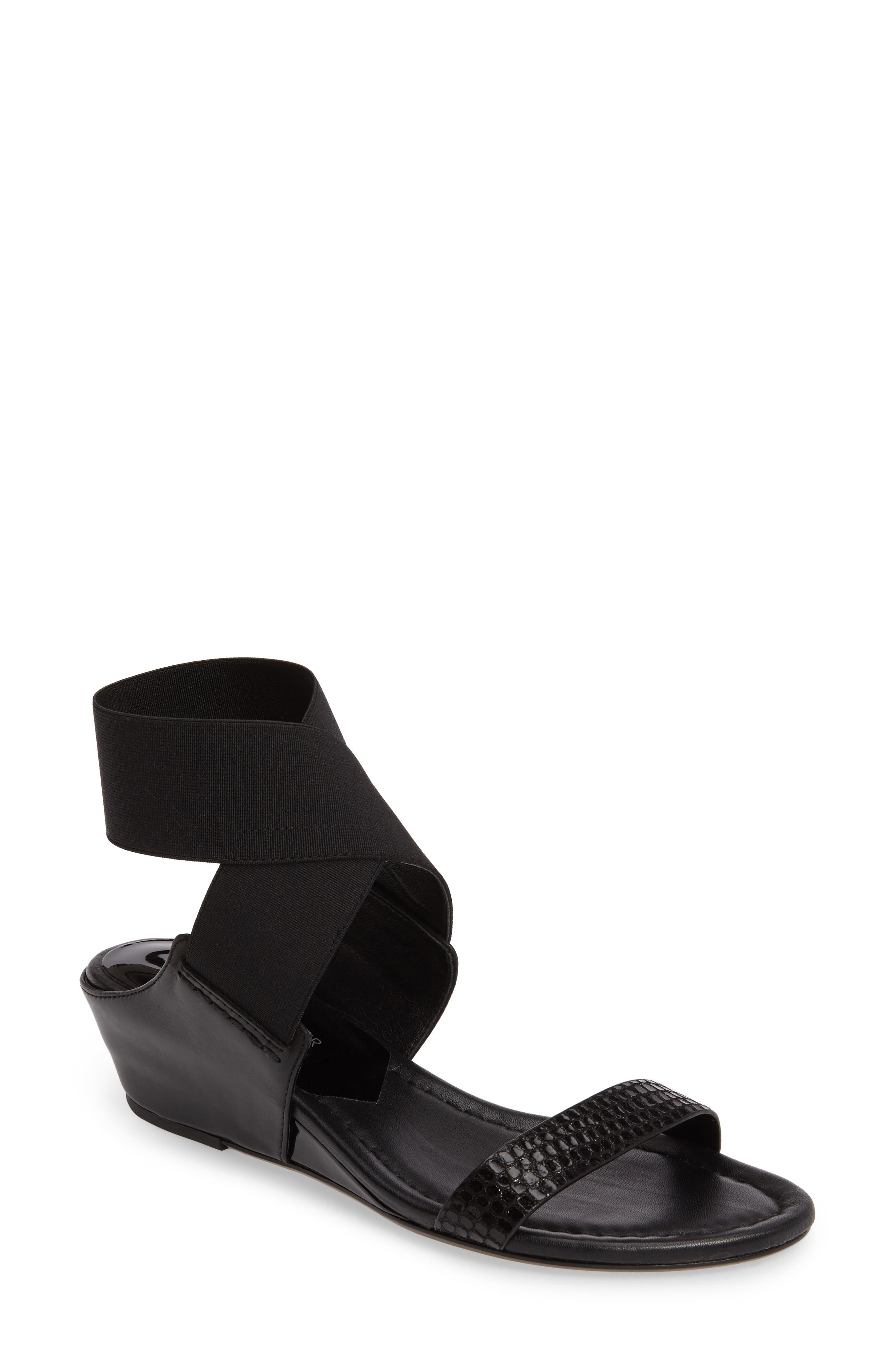 Donald J Pliner Eeva Wedge Sandal,                         Main,                         color, 002
