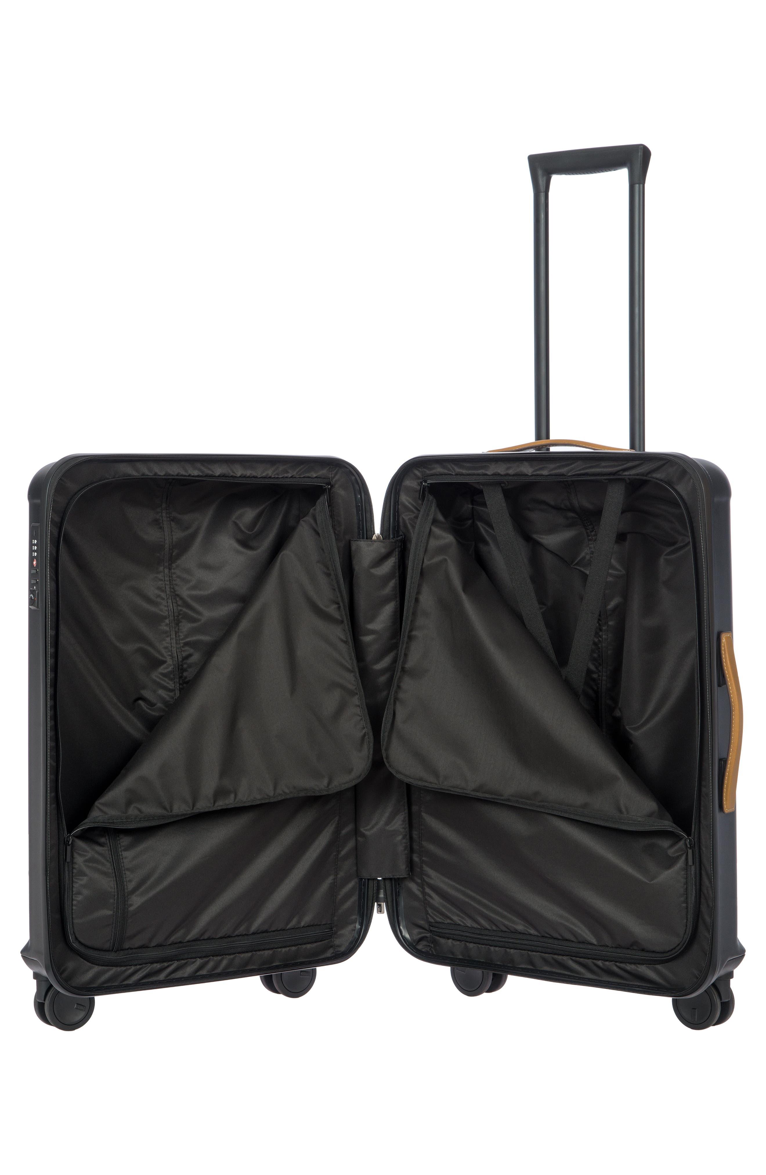 Capri 27-Inch Rolling Suitcase,                             Alternate thumbnail 5, color,                             MATTE BLACK