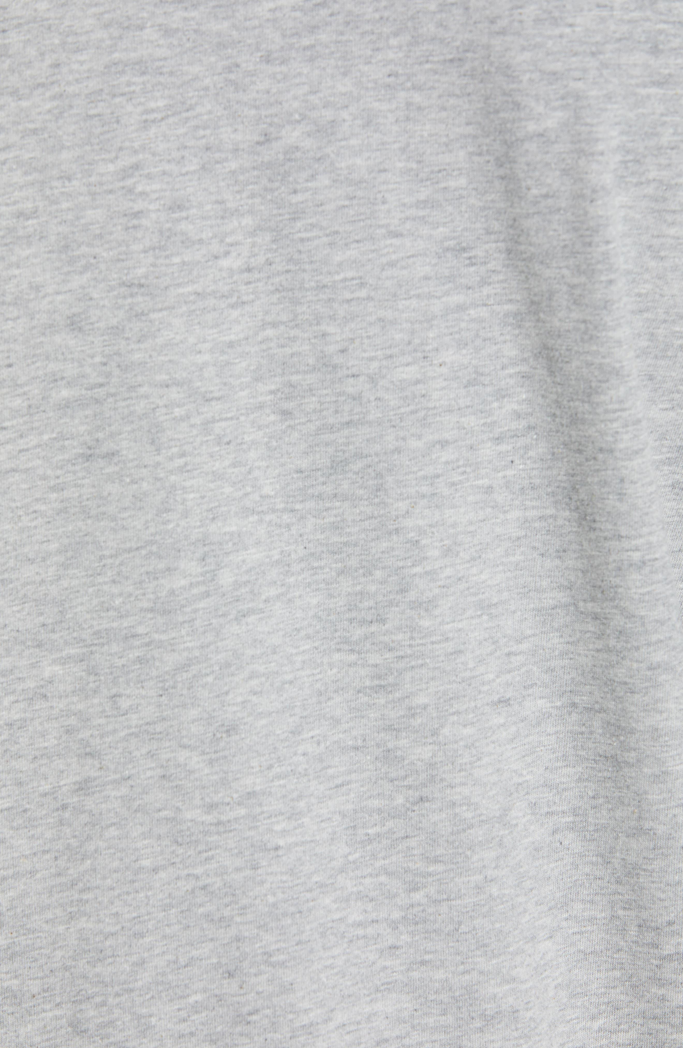 Hoyt Stripe Sleeve Sweatshirt,                             Alternate thumbnail 5, color,                             GREY MELANGE
