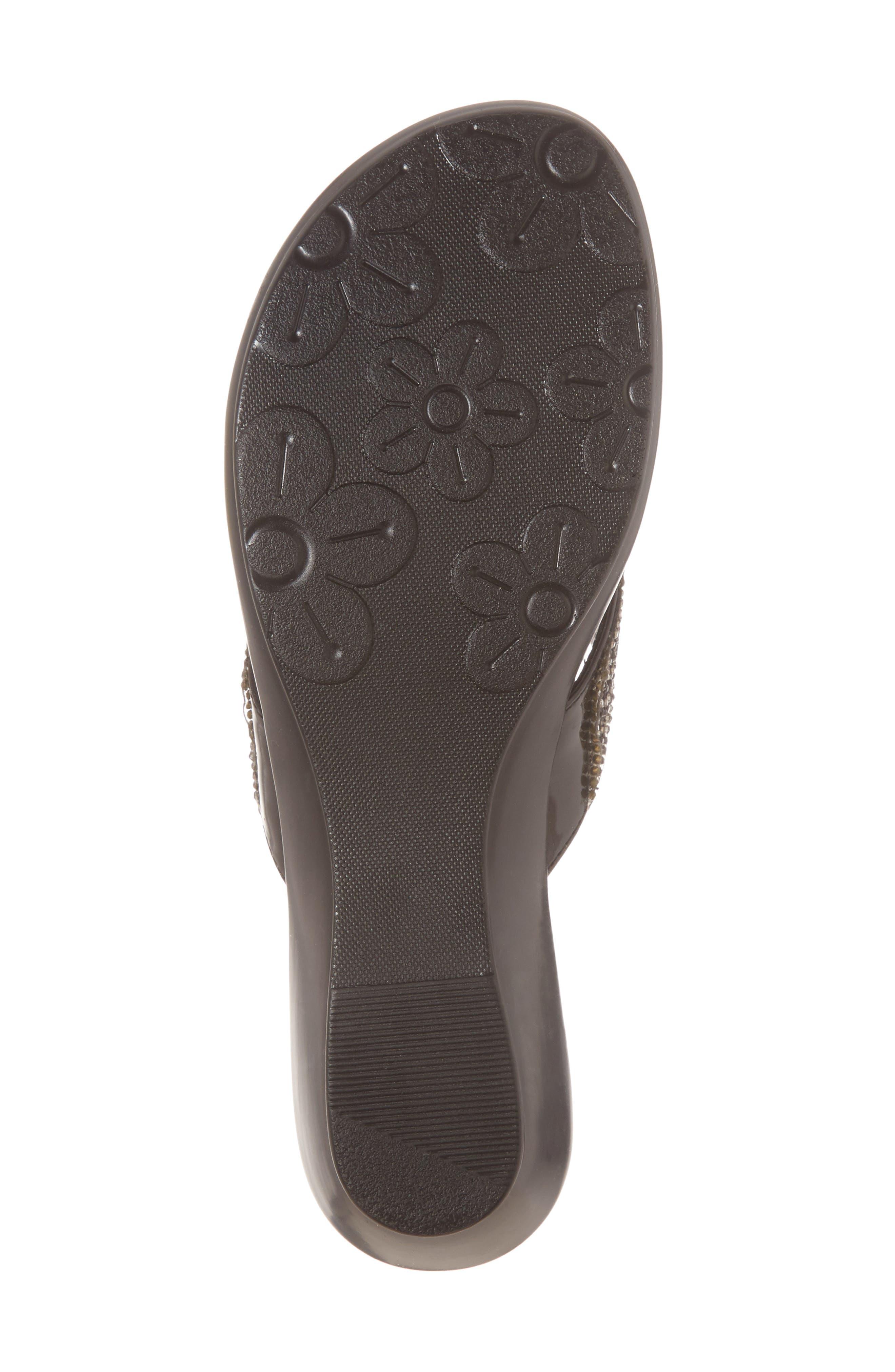 Shady Slide Sandal,                             Alternate thumbnail 6, color,                             BLACK FABRIC