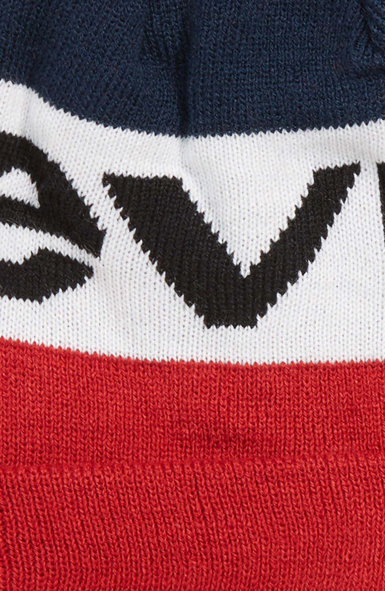 Bold Beanie & Gloves Set,                             Alternate thumbnail 2, color,                             DRESS BLUES/ LEVIS RED
