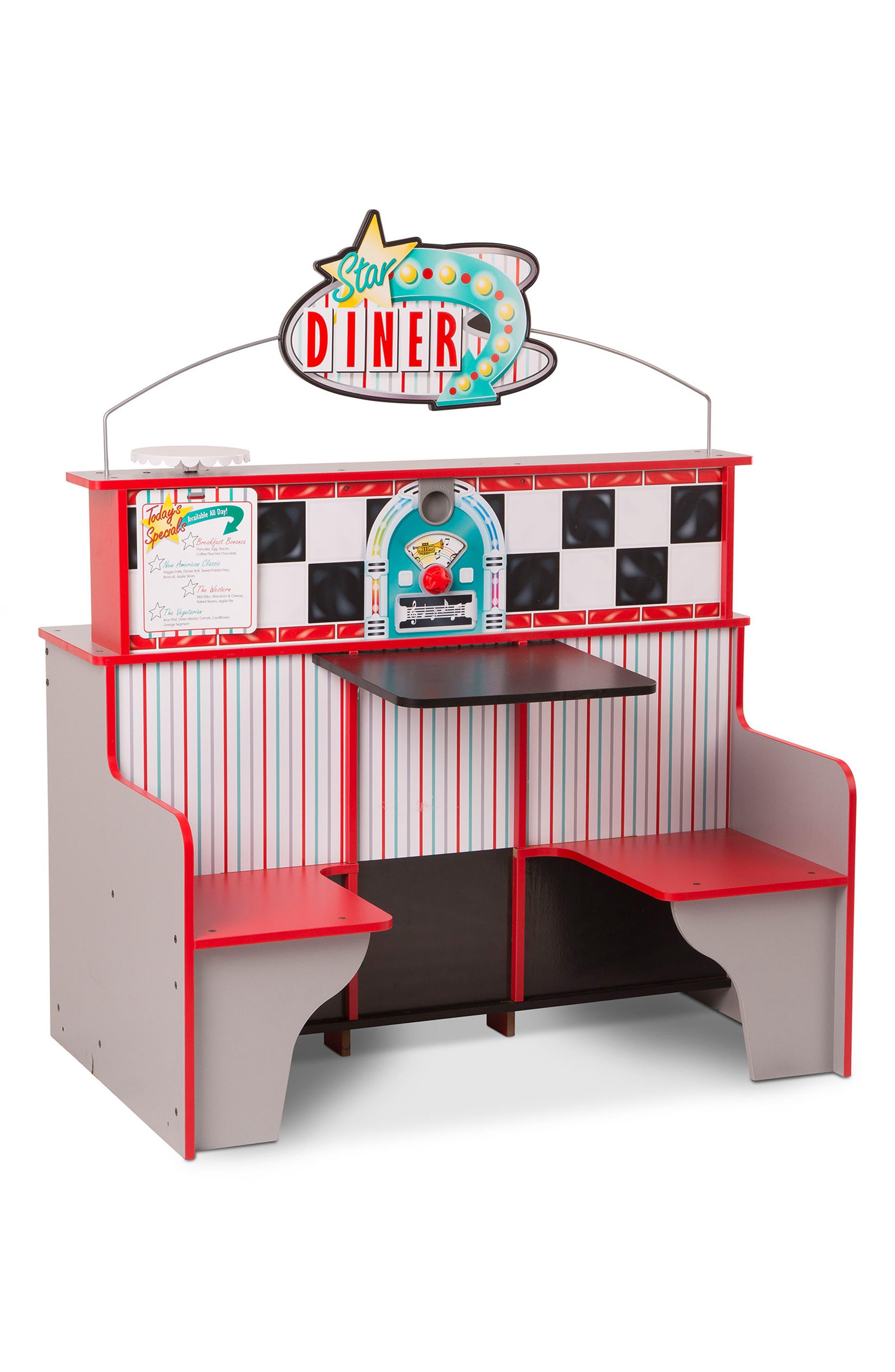 Star Diner Play Scene,                             Alternate thumbnail 5, color,                             WHITE