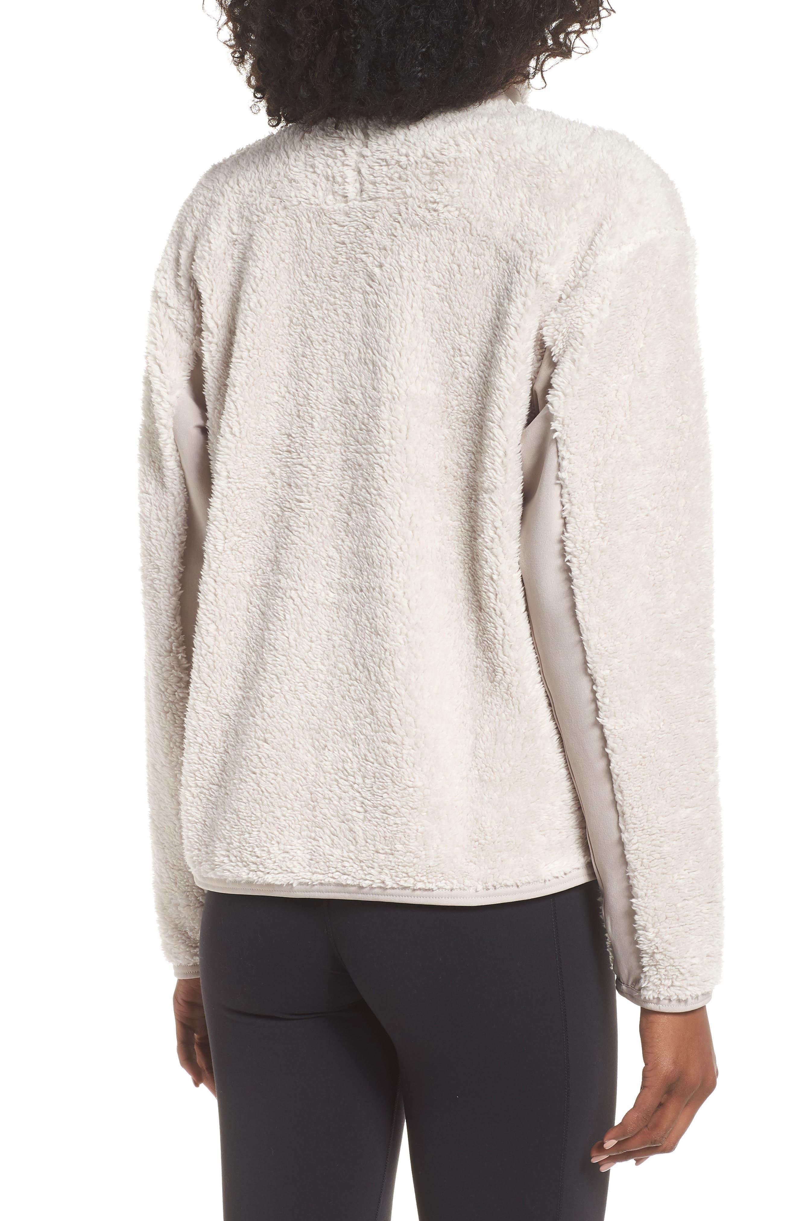 Therma Women's Full Zip Fleece Training Top,                             Alternate thumbnail 2, color,                             DESERT SAND/ MOON PARTICLE