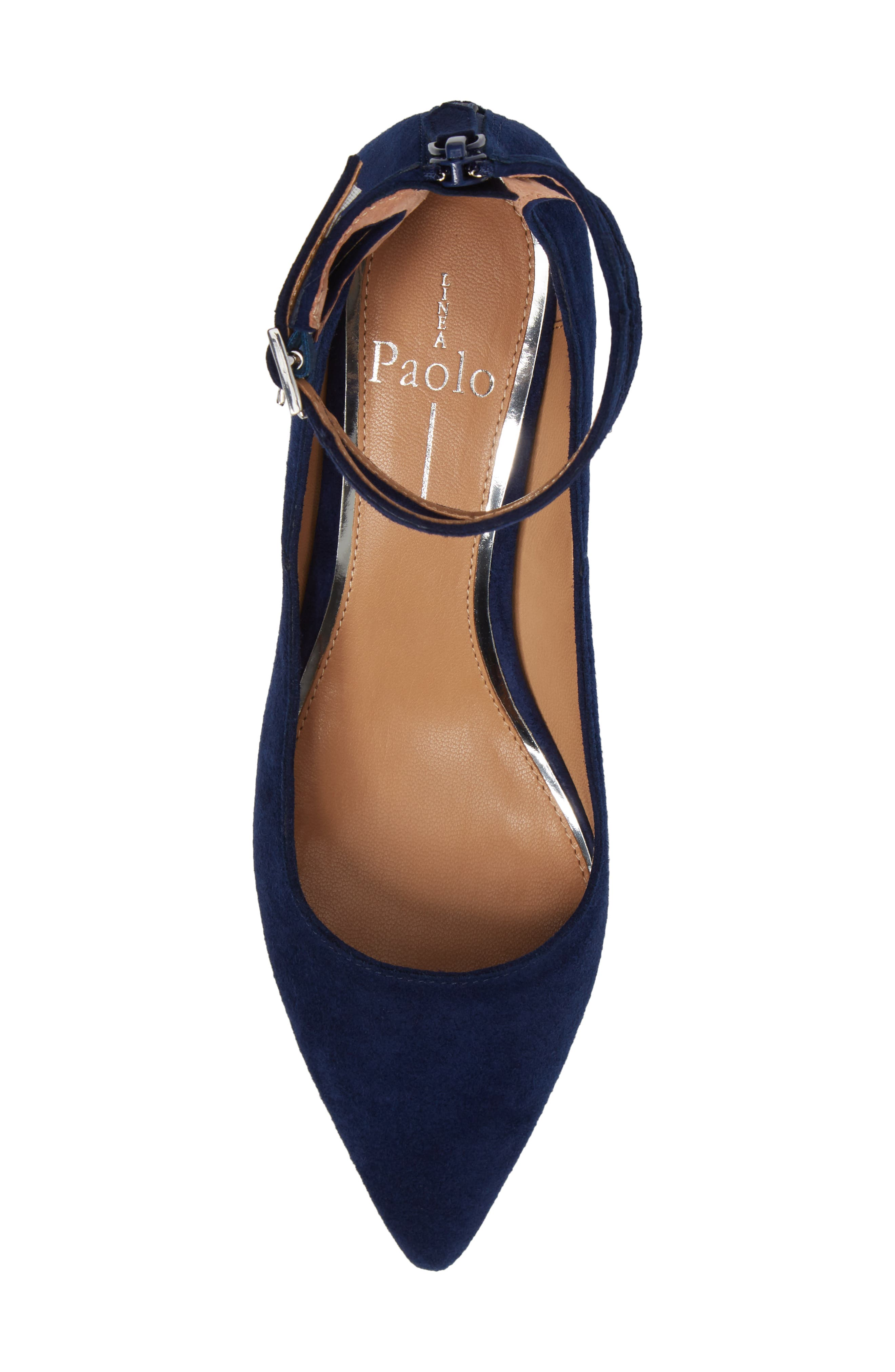 'Noel' Pointy Toe Ankle Strap Pump,                             Alternate thumbnail 5, color,                             412
