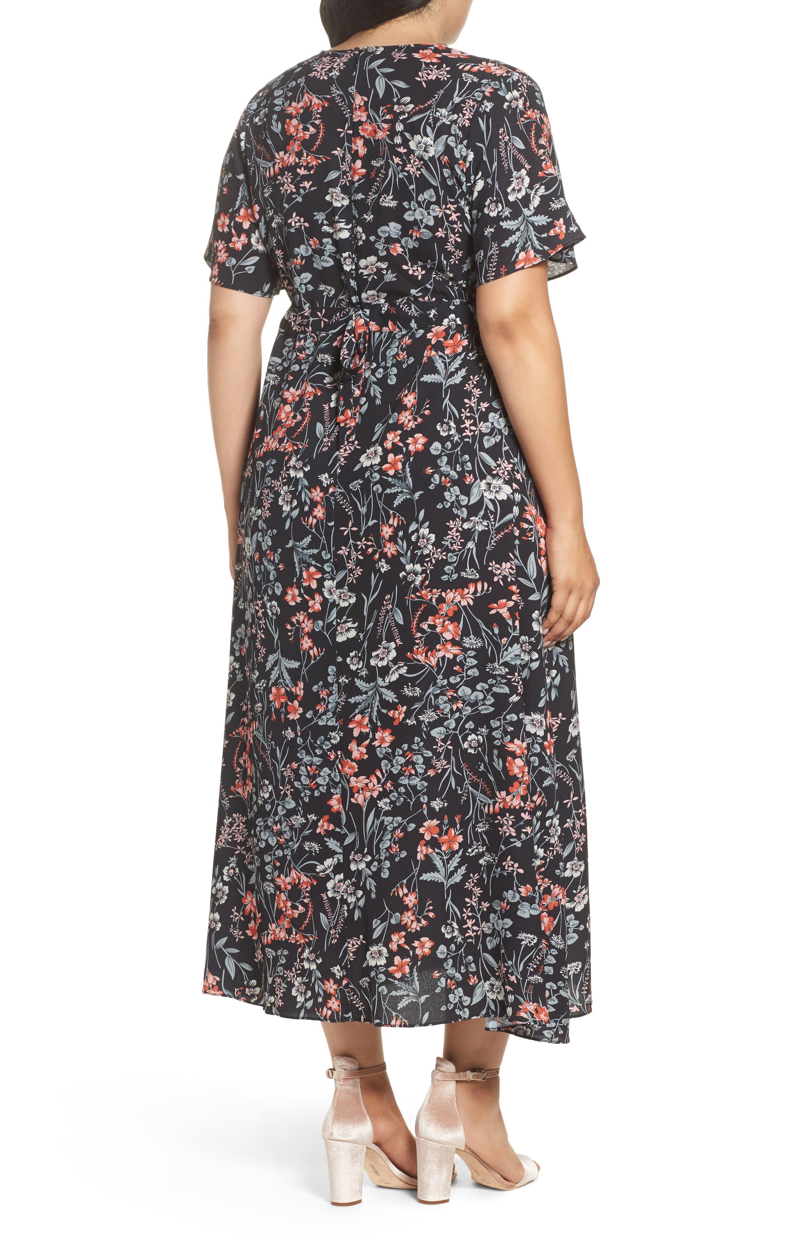 Print Maxi Dress,                             Alternate thumbnail 2, color,                             010