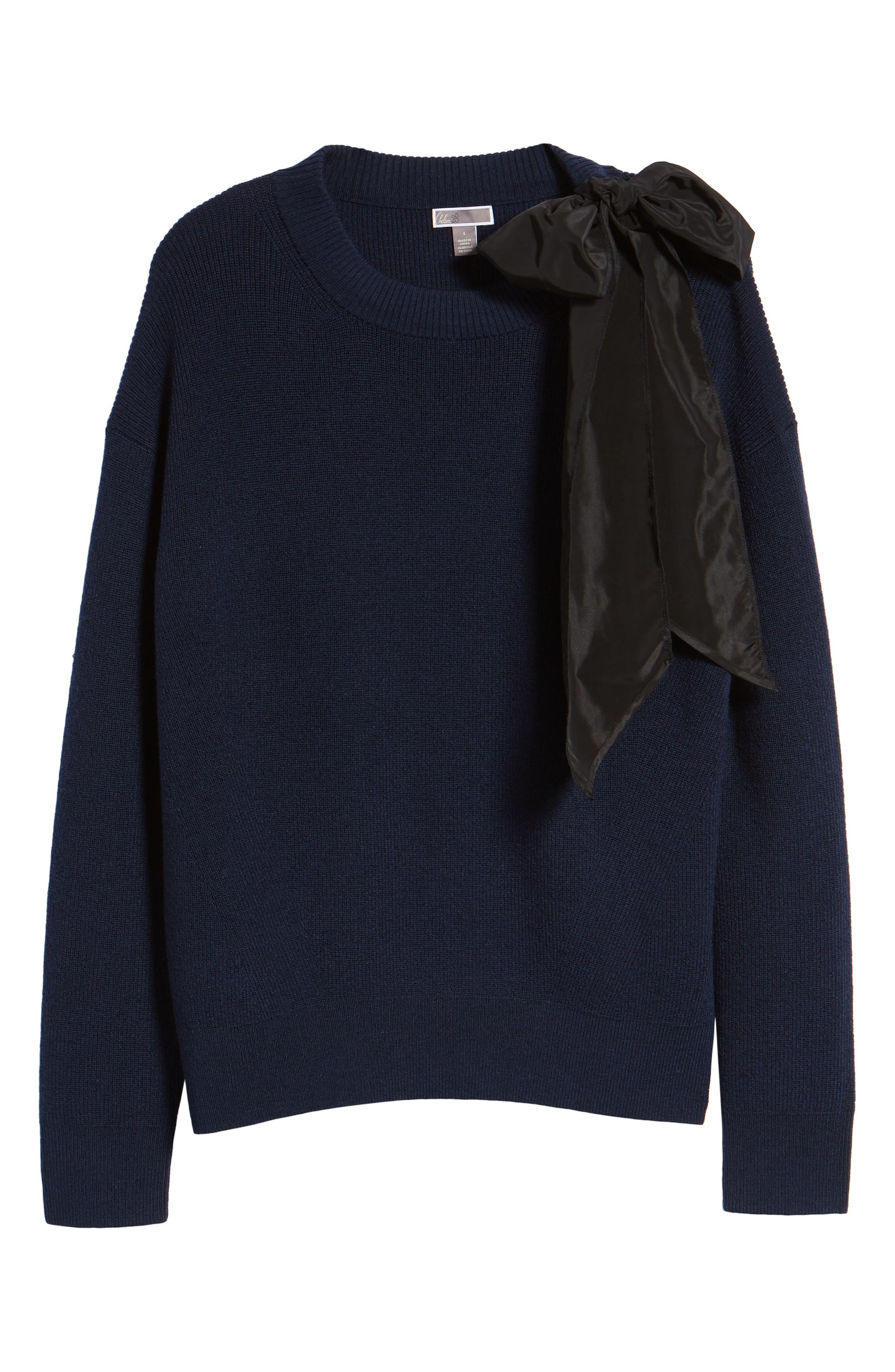 Bow Shoulder Sweater,                             Alternate thumbnail 7, color,                             410