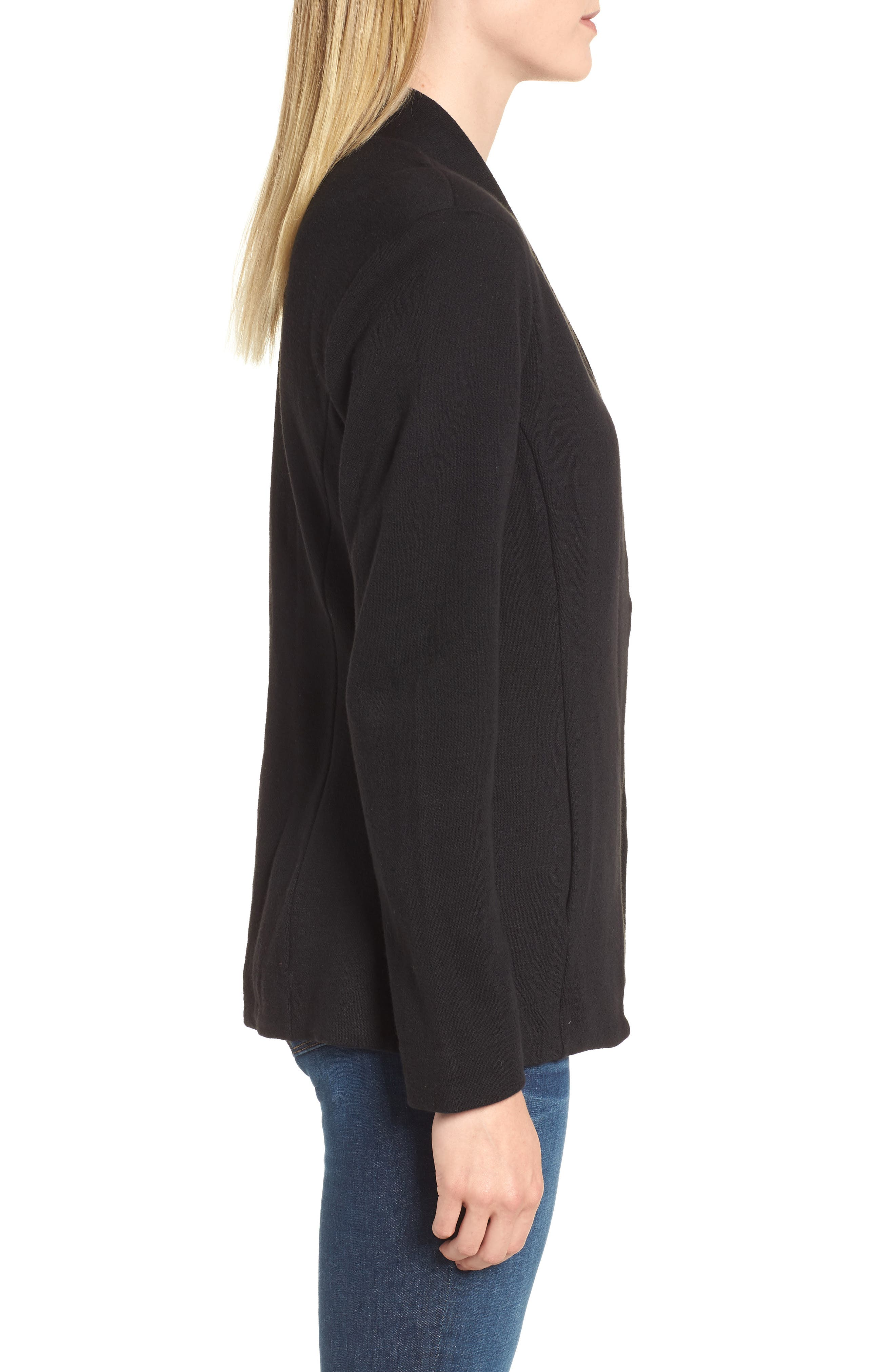 Sleek Jacket,                             Alternate thumbnail 3, color,                             BLACK ONYX