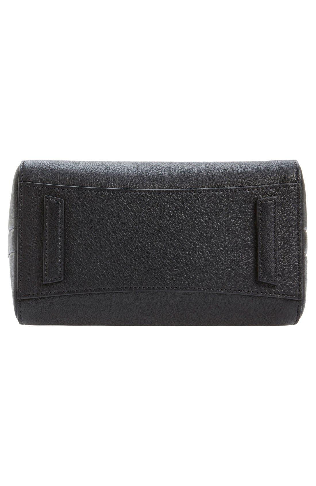 'Mini Antigona' Sugar Leather Satchel,                             Alternate thumbnail 8, color,                             BLACK