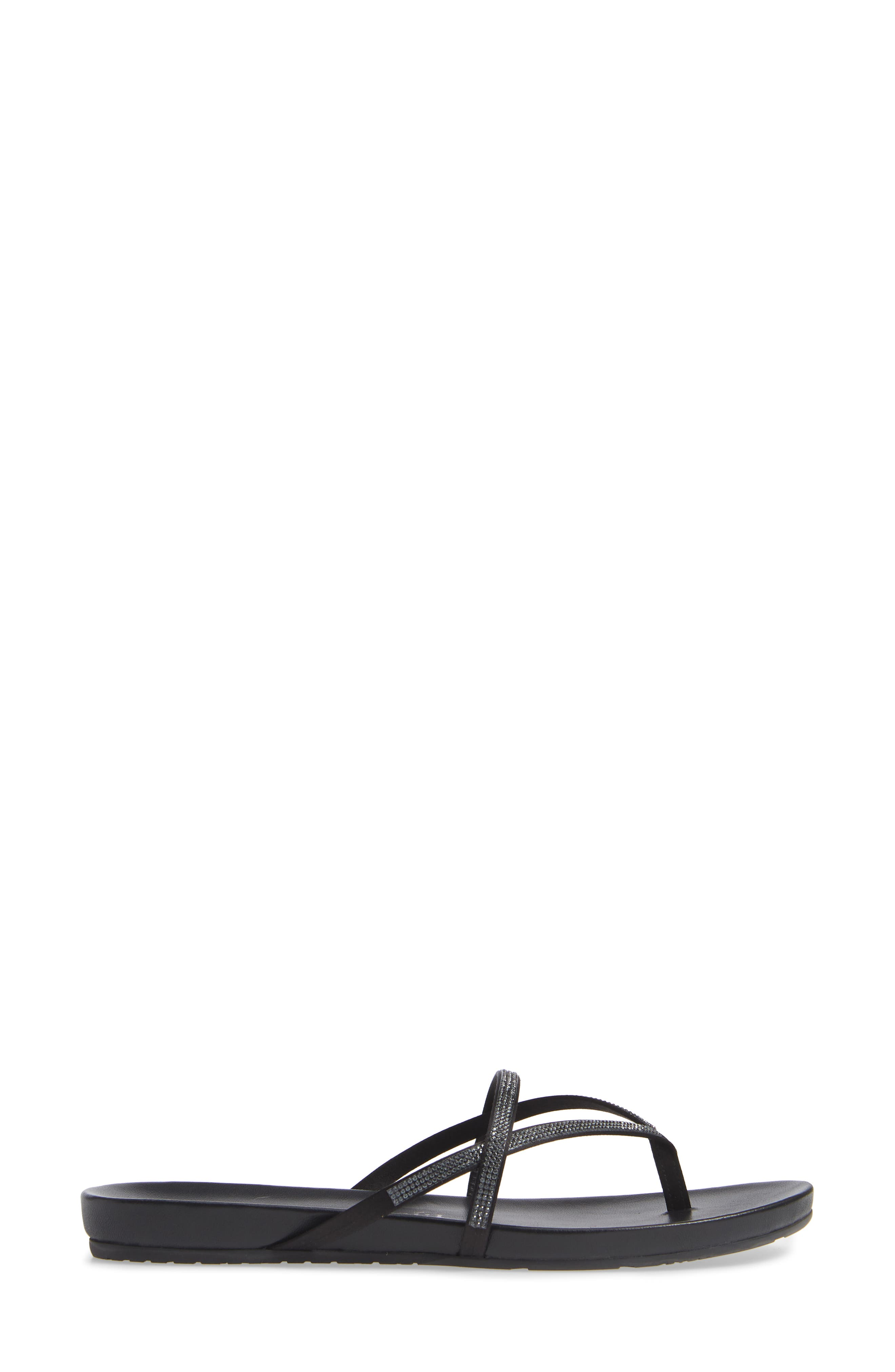 Giulia Crystal Embellished Sandal,                             Alternate thumbnail 3, color,                             METEORITE SATIN
