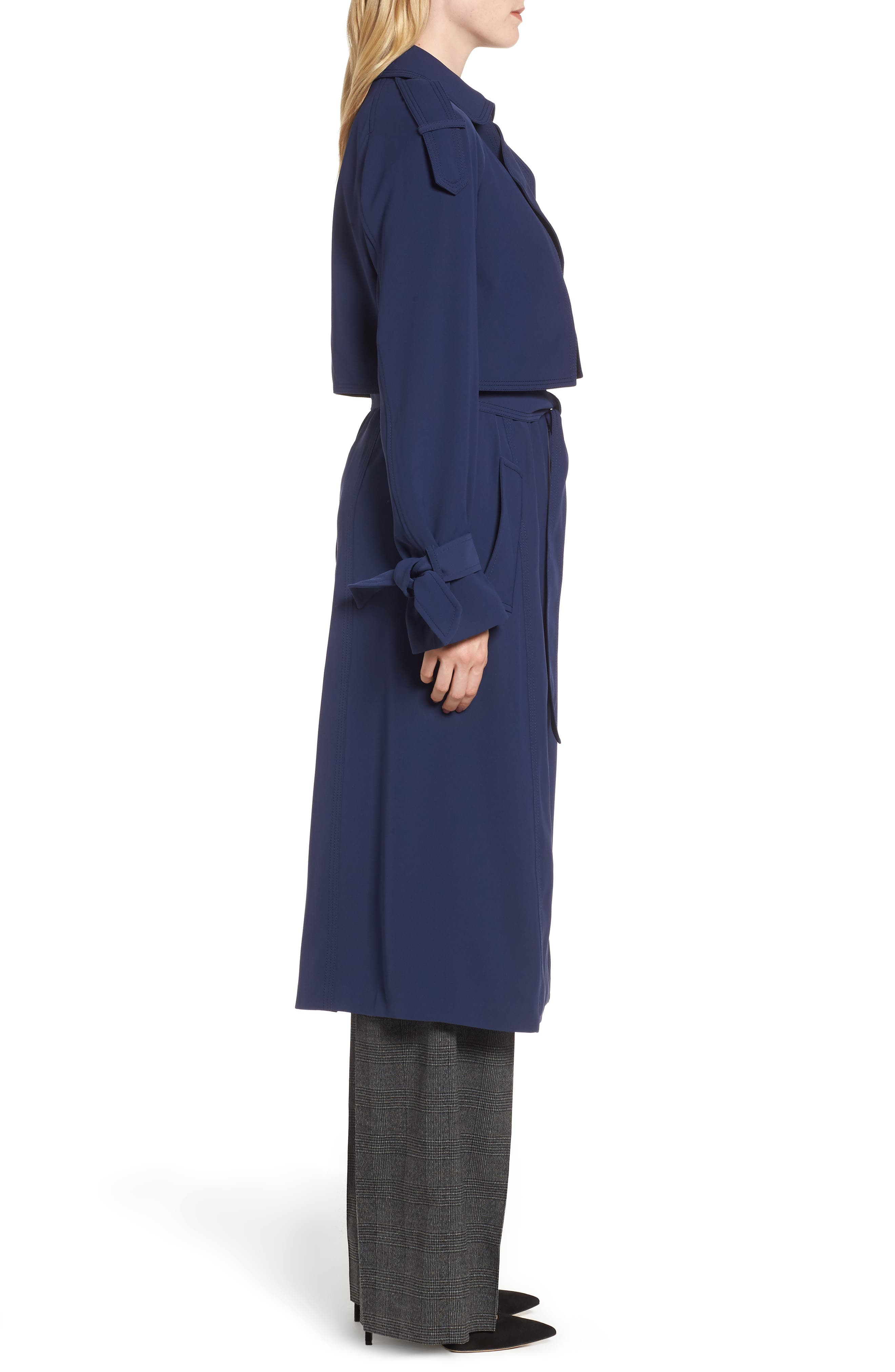 Drapey Trench Caot,                             Alternate thumbnail 3, color,                             456