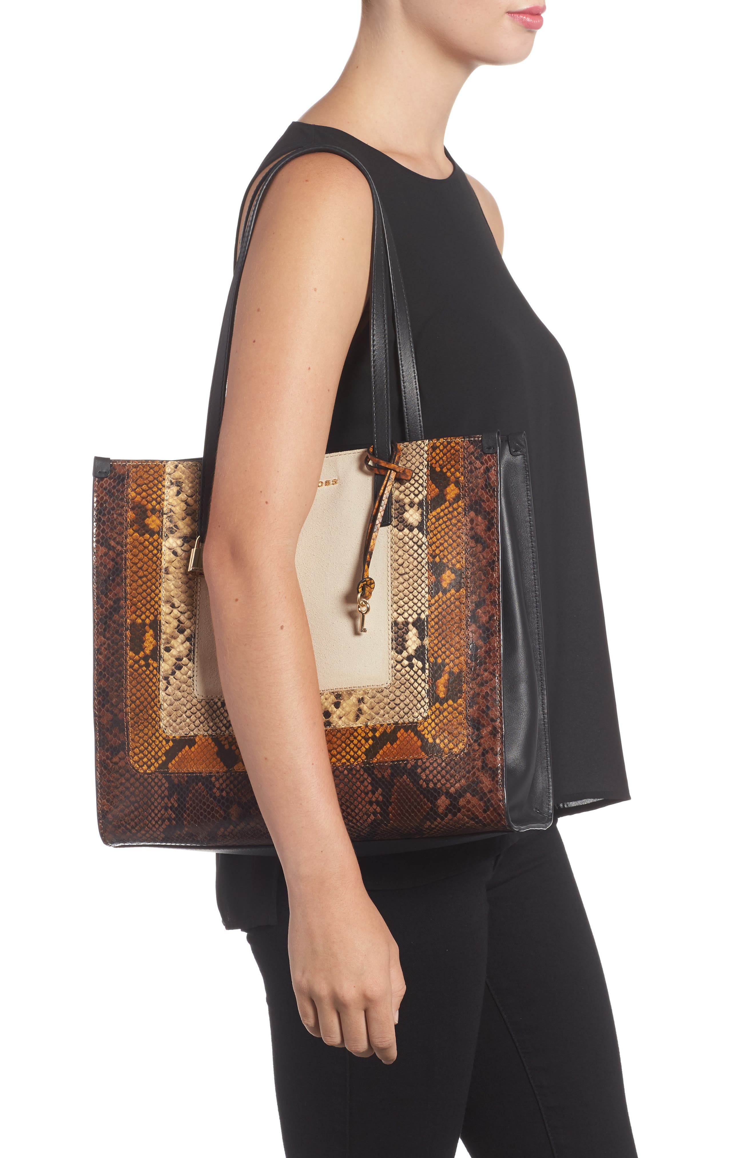 The Snake Grind Leather Tote,                             Alternate thumbnail 2, color,                             230