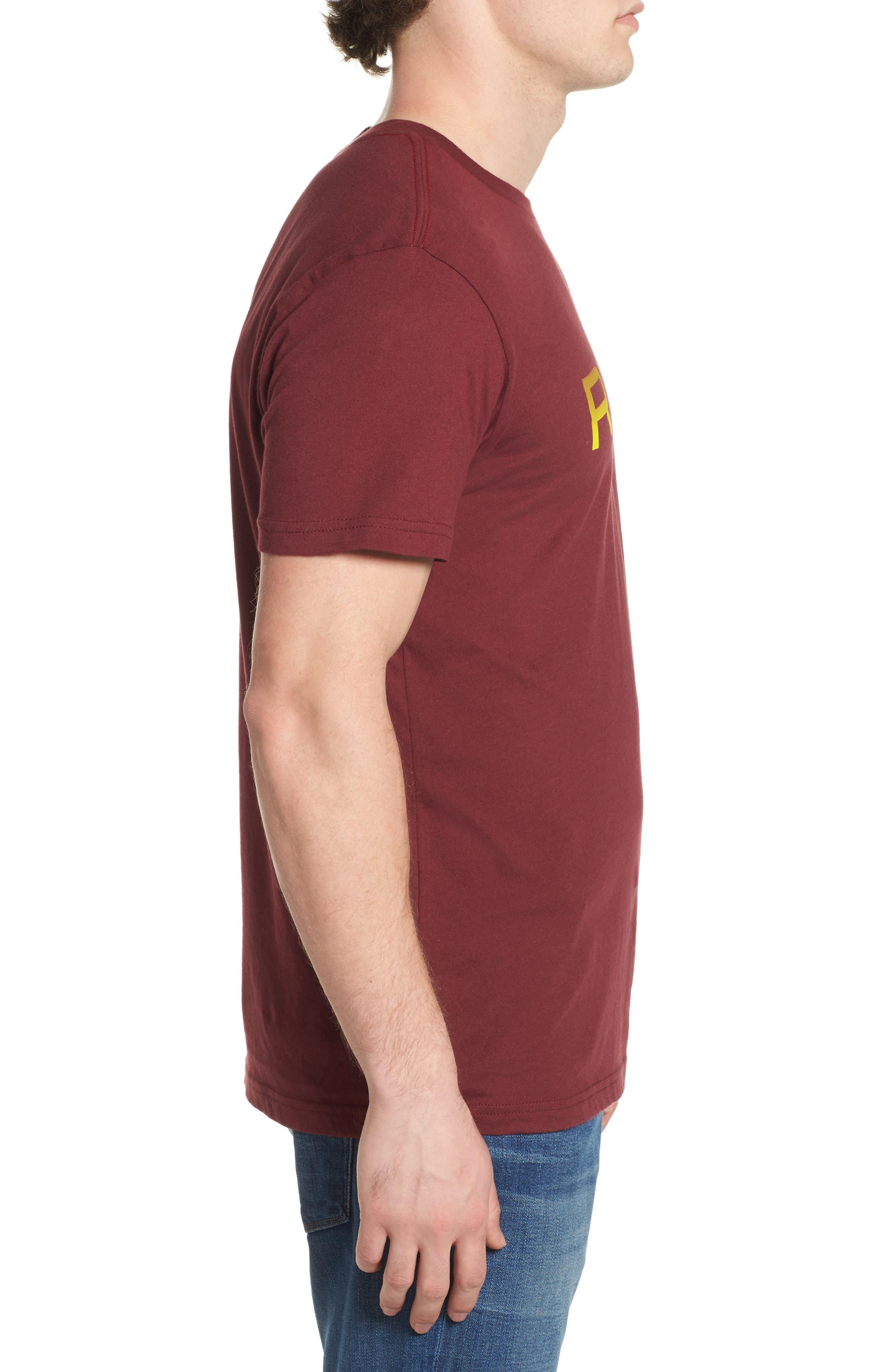 Big RVCA Gradient Logo T-Shirt,                             Alternate thumbnail 6, color,