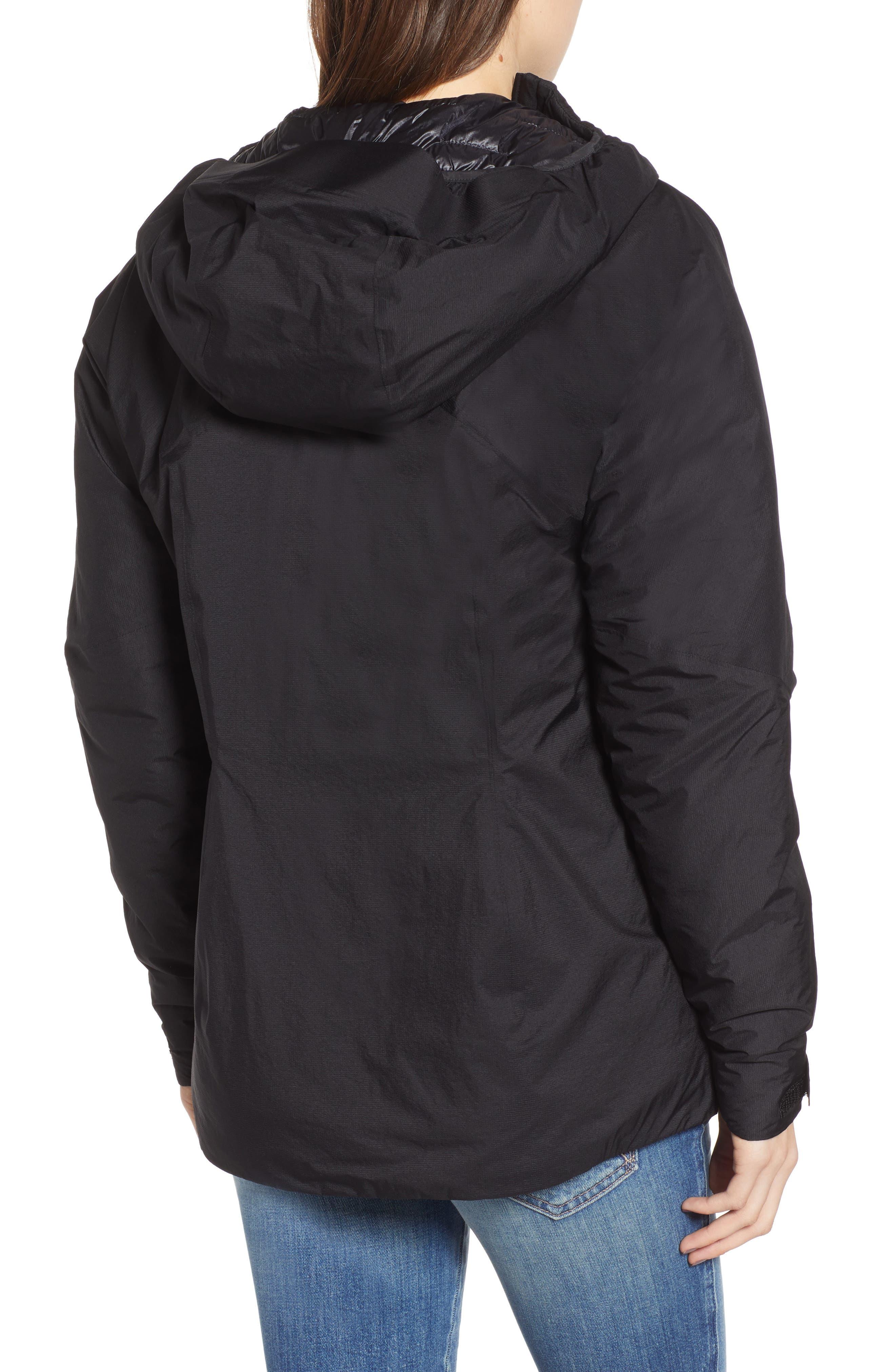Micro Puff<sup>®</sup> Waterproof Storm Jacket,                             Alternate thumbnail 2, color,                             BLACK