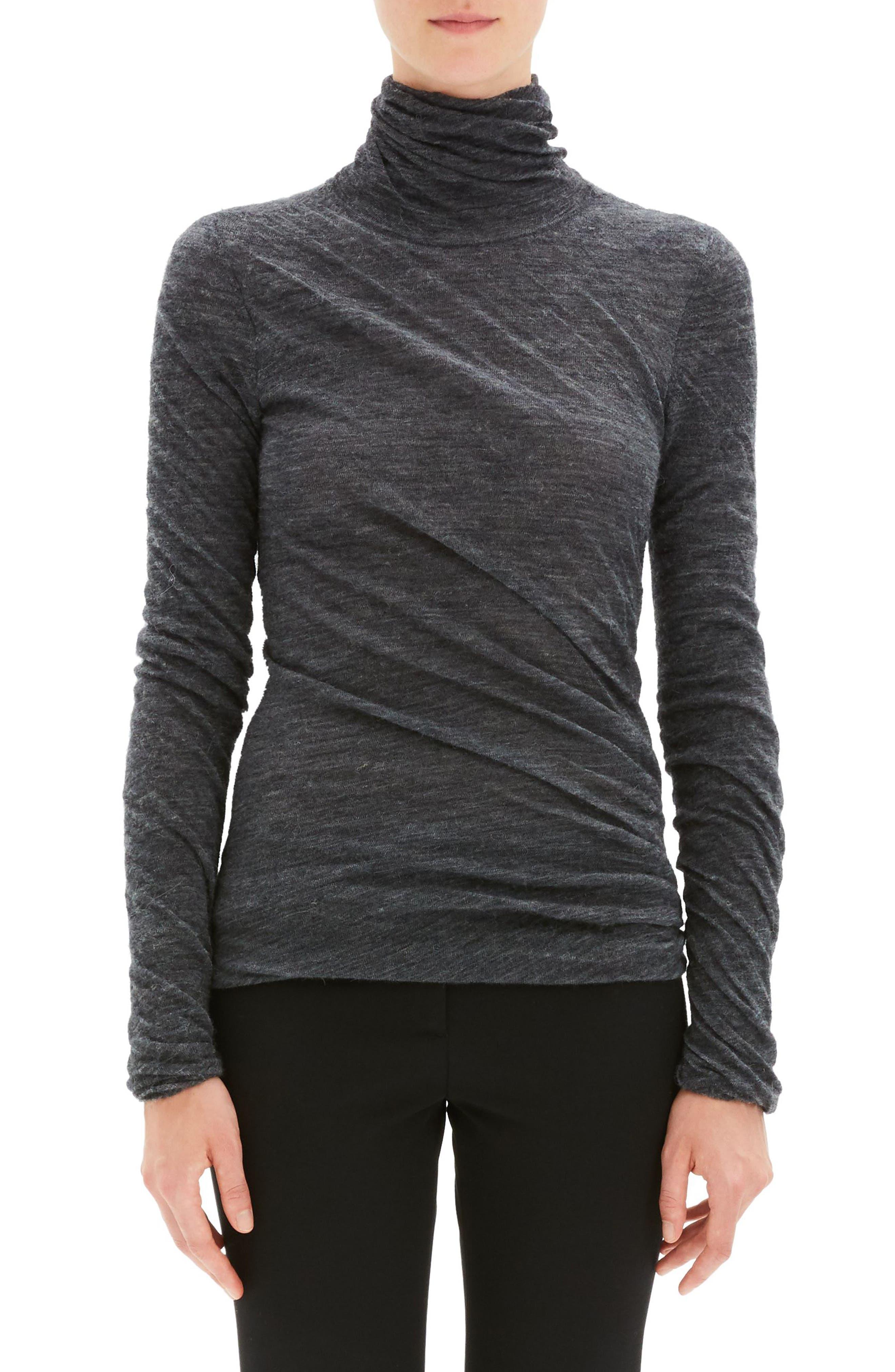Twist Turtleneck Sweater,                             Main thumbnail 1, color,                             030