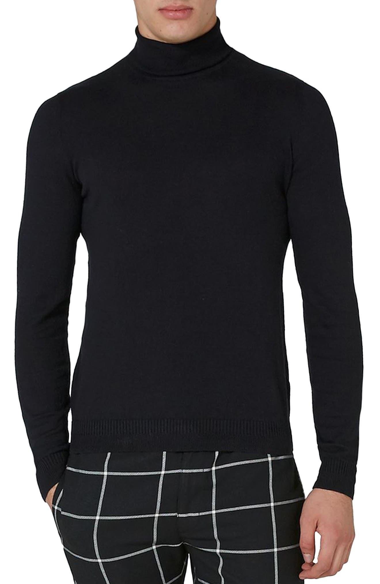 Cotton Turtleneck Sweater,                             Main thumbnail 1, color,                             001